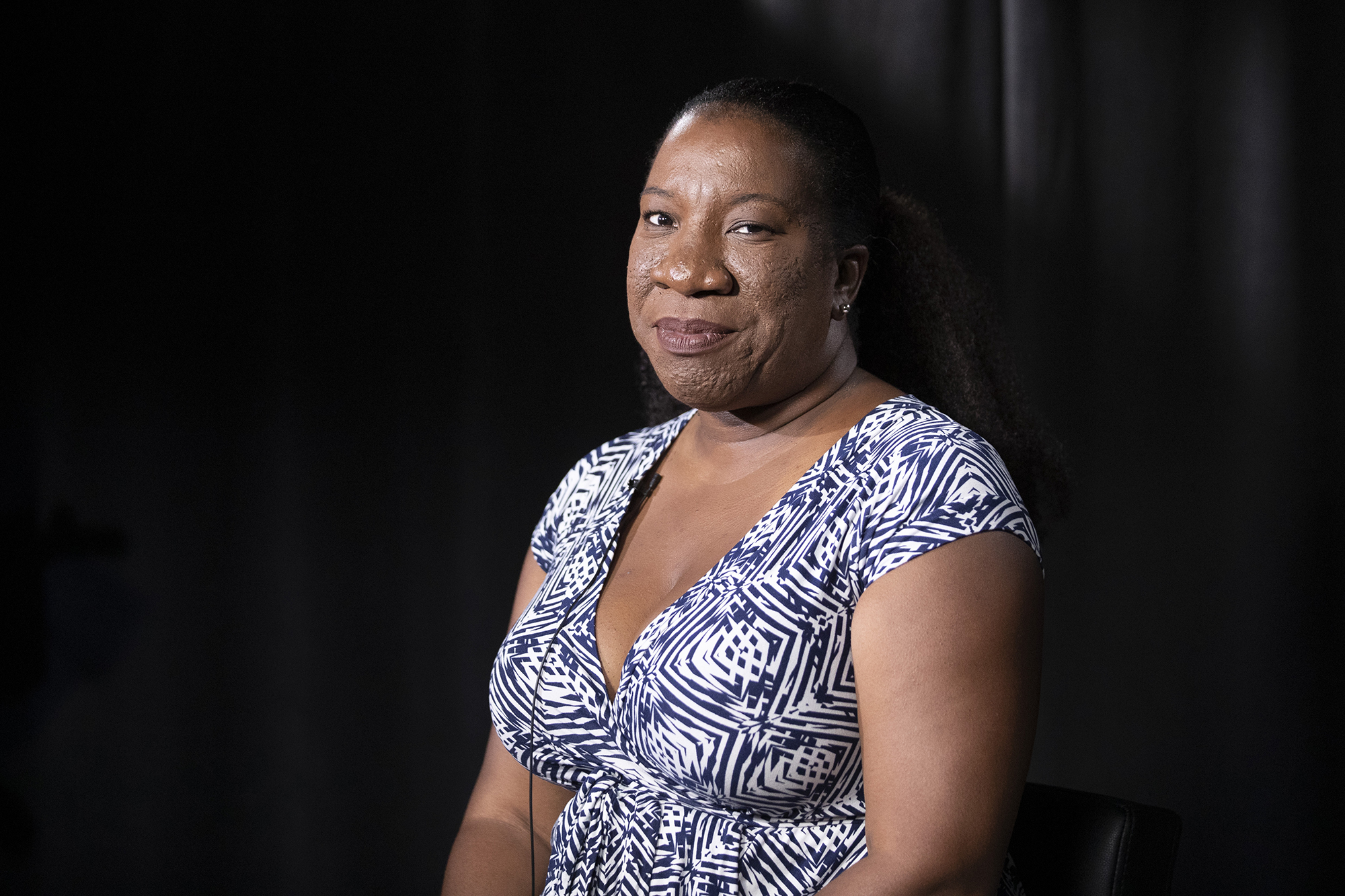Tarana Burke, founder and leader of the #MeToo movement, poses for a portrait in New York on Friday, October 11, 2019.