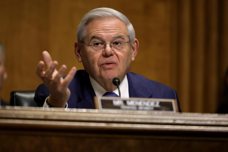 Senate Foreign Relations Committee ranking member Sen. Robert Menendez (D-NJ) is seen on Capitol Hill December 3, 2019 in Washington.