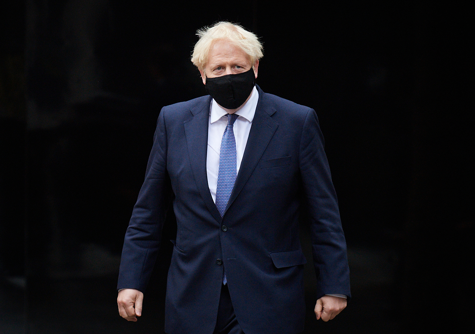 Prime Minister Boris Johnson visits the headquarters of Octopus Energy on October 5, in London, England.