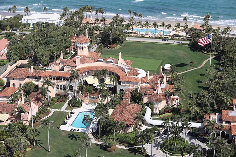 Aerial View of Mar-A-Lago Club in Palm Beach, Florida on March 1.