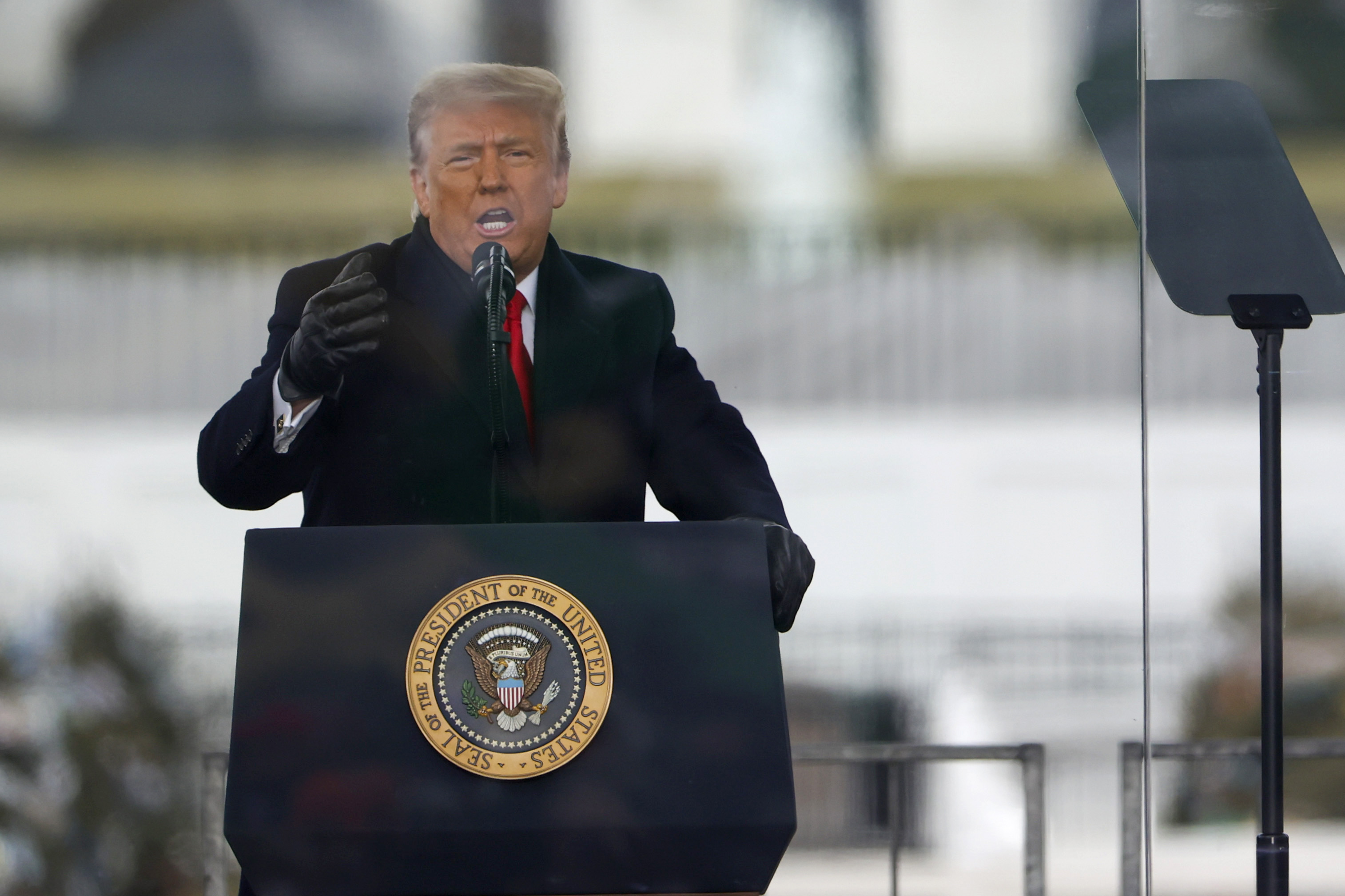 """President Donald Trump speaks at the """"Stop The Steal"""" rally on January 6."""