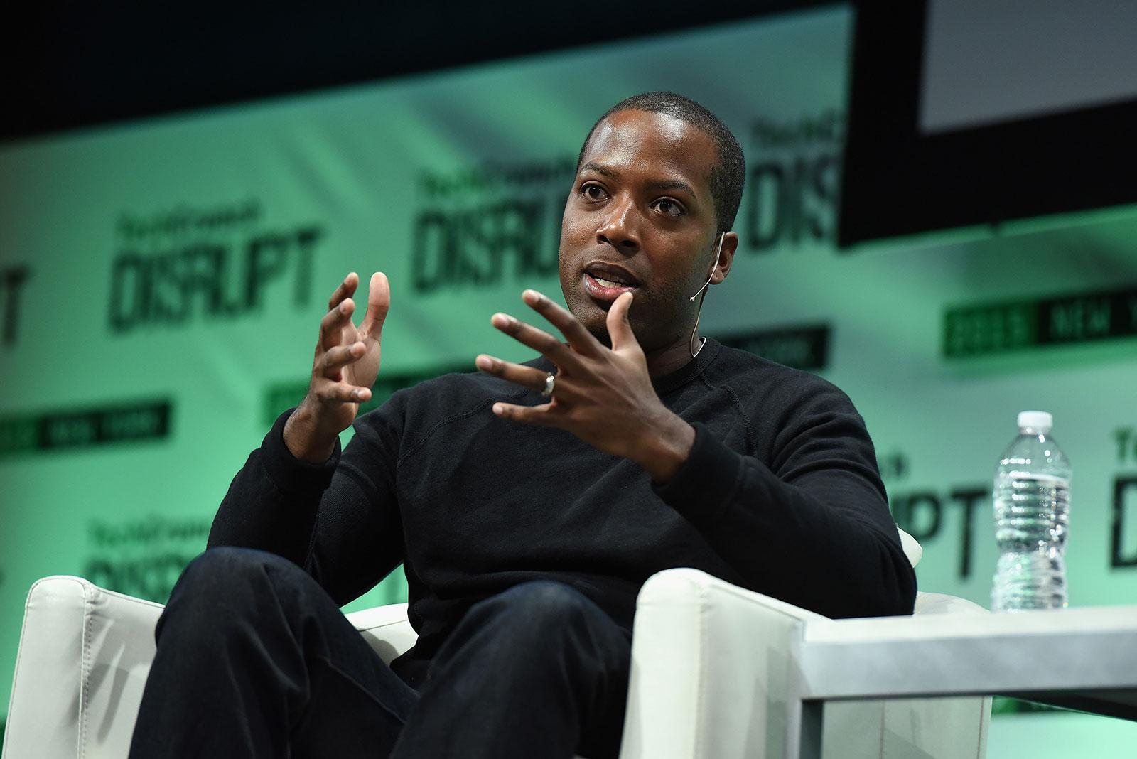 Tristan Walker speaks during TechCrunch Disrupt in New York in 2015.