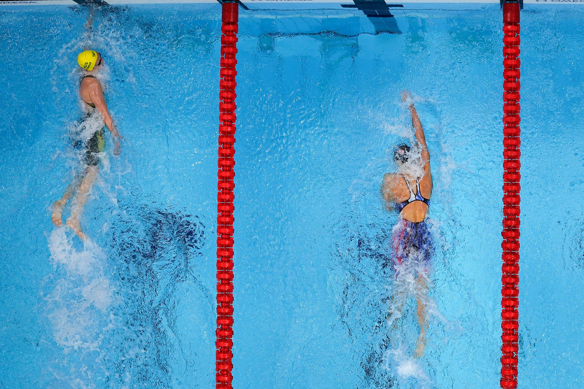 """""""Yeah, whatever,"""" says Ariarne Titmus after beating Katie Ledecky to claim 400m freestyle gold"""