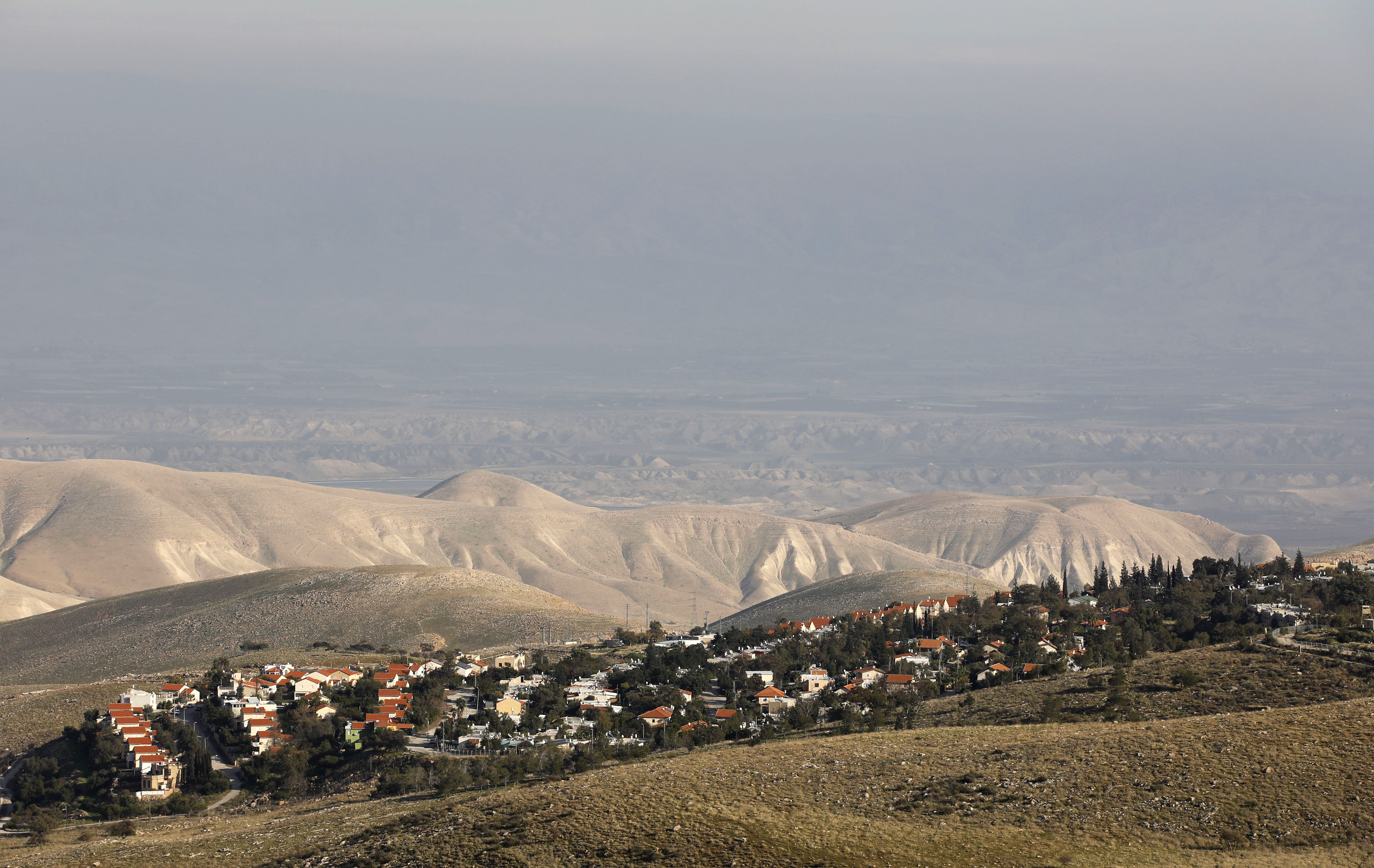A general view of the Israeli settlement of Maale Efrayim in the Jordan Valley, in the occupied West Bank, on Monday.