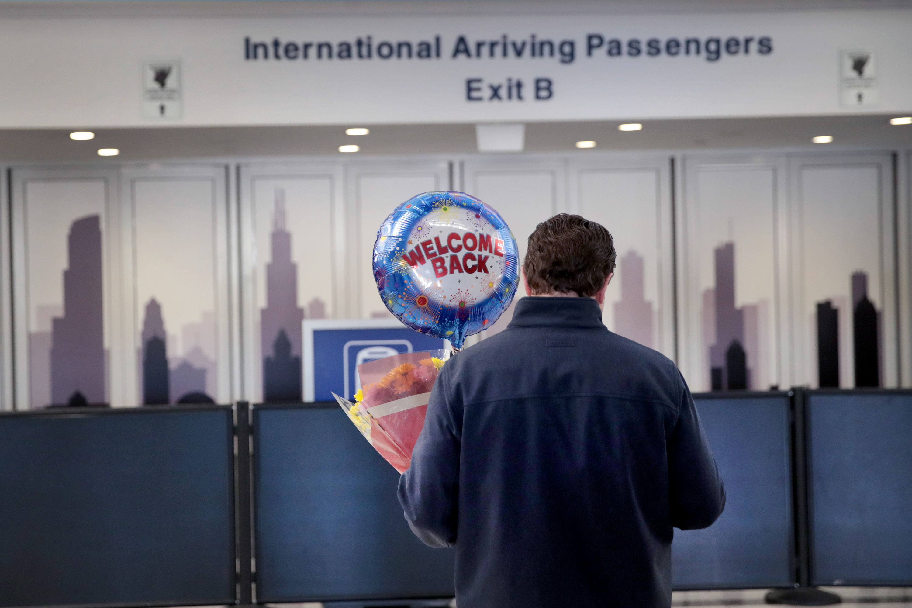 The arrival area in the international terminal at O'Hare Airport on March 13, 2020 in Chicago, Illinois.