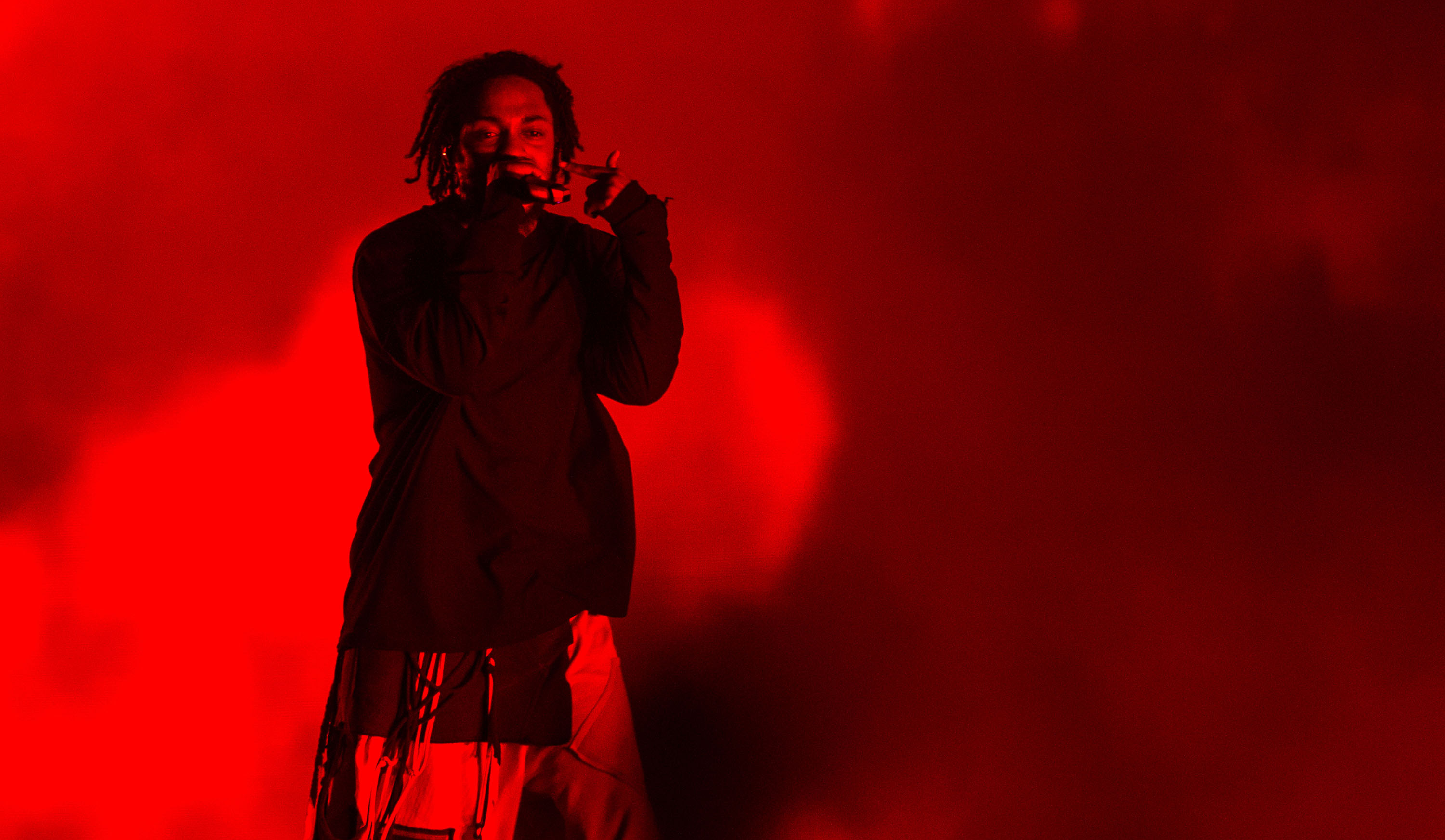 Kendrick Lamar performs in Buenos Aires, Argentina in March 2019. The American rapper was due to be one of the Glastonbury 2020 headliners.