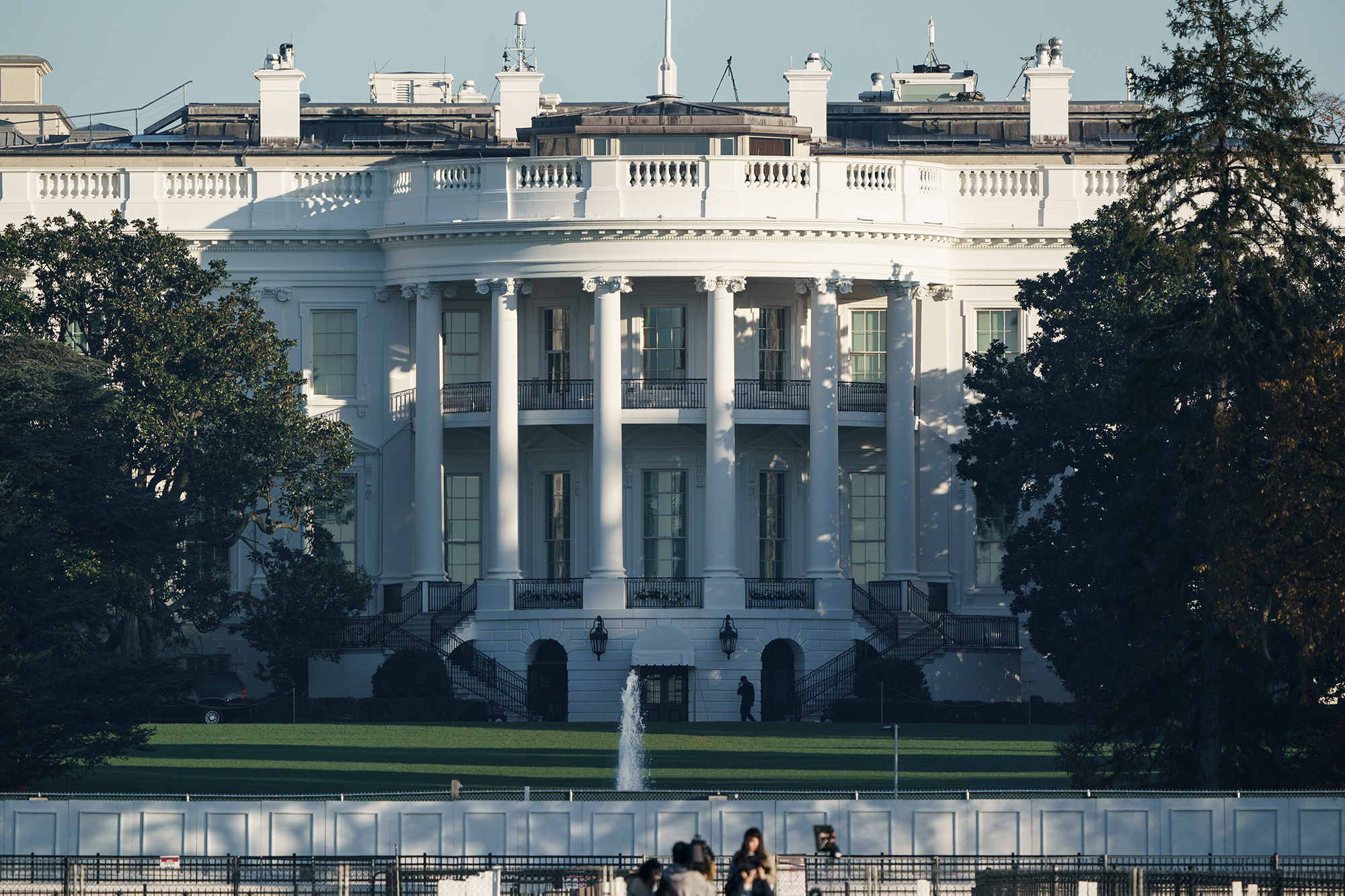 The White House in Washington, is seen early Sunday, Nov. 8, 2020.