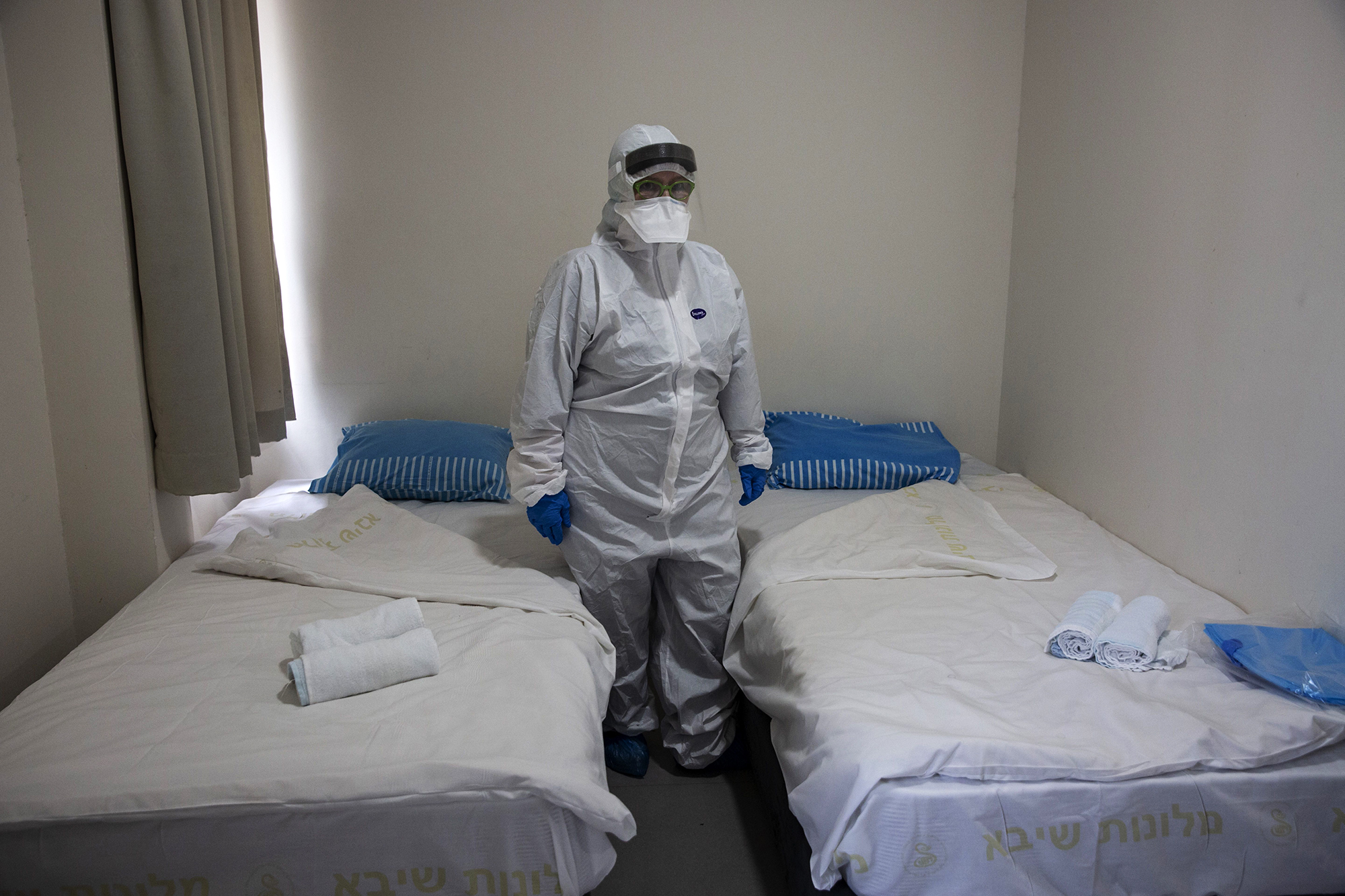 Israeli Professor Galia Rahavm, the head of infectious diseases, stands in one of the rooms where Israelis returning from China will stay under observation and isolation to control the spread of the coronavirus, at the Chaim Sheba Medical Center at Tel Hashomer near Tel Aviv on Wednesday, February 19.