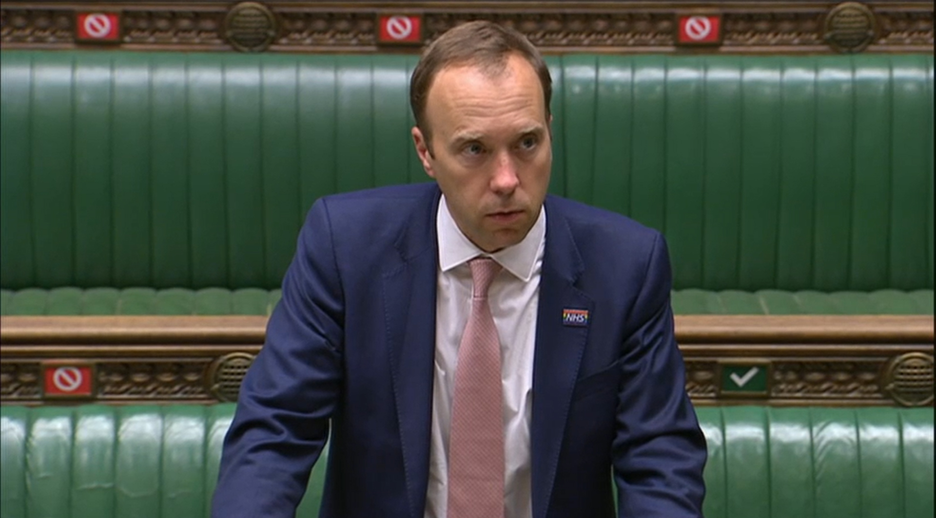 British Health Secretary Matt Hancock makes a statement in London's House of Commons on September 17.
