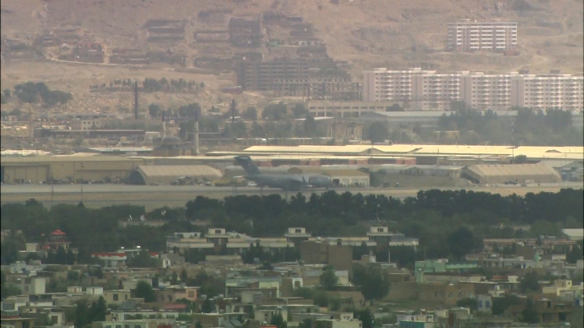 Hamid Karzai International Airport in Kabul, Afghanistan, on Monday, August 30.