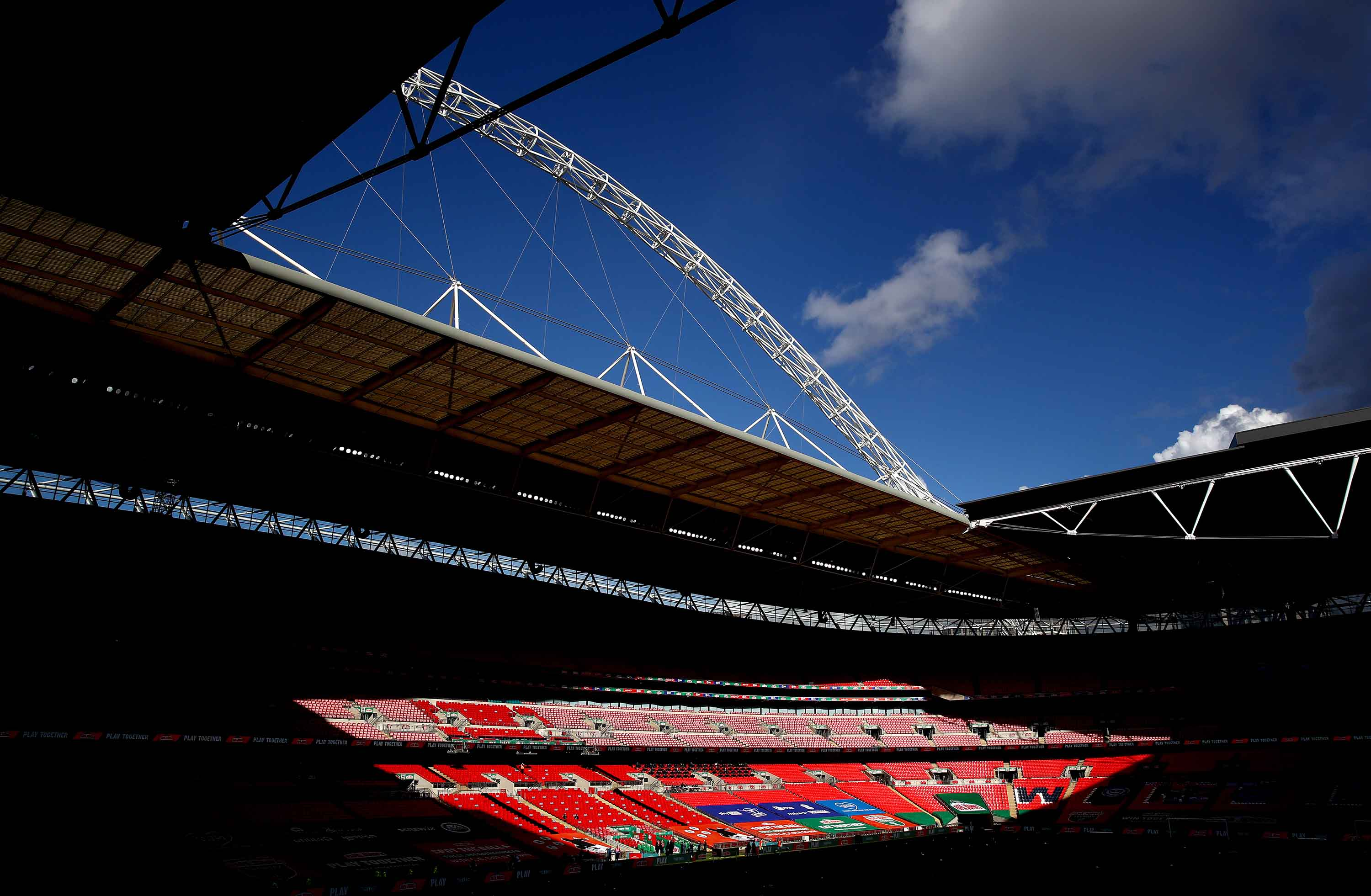 Wembley Stadium in London is pictured on March 13.
