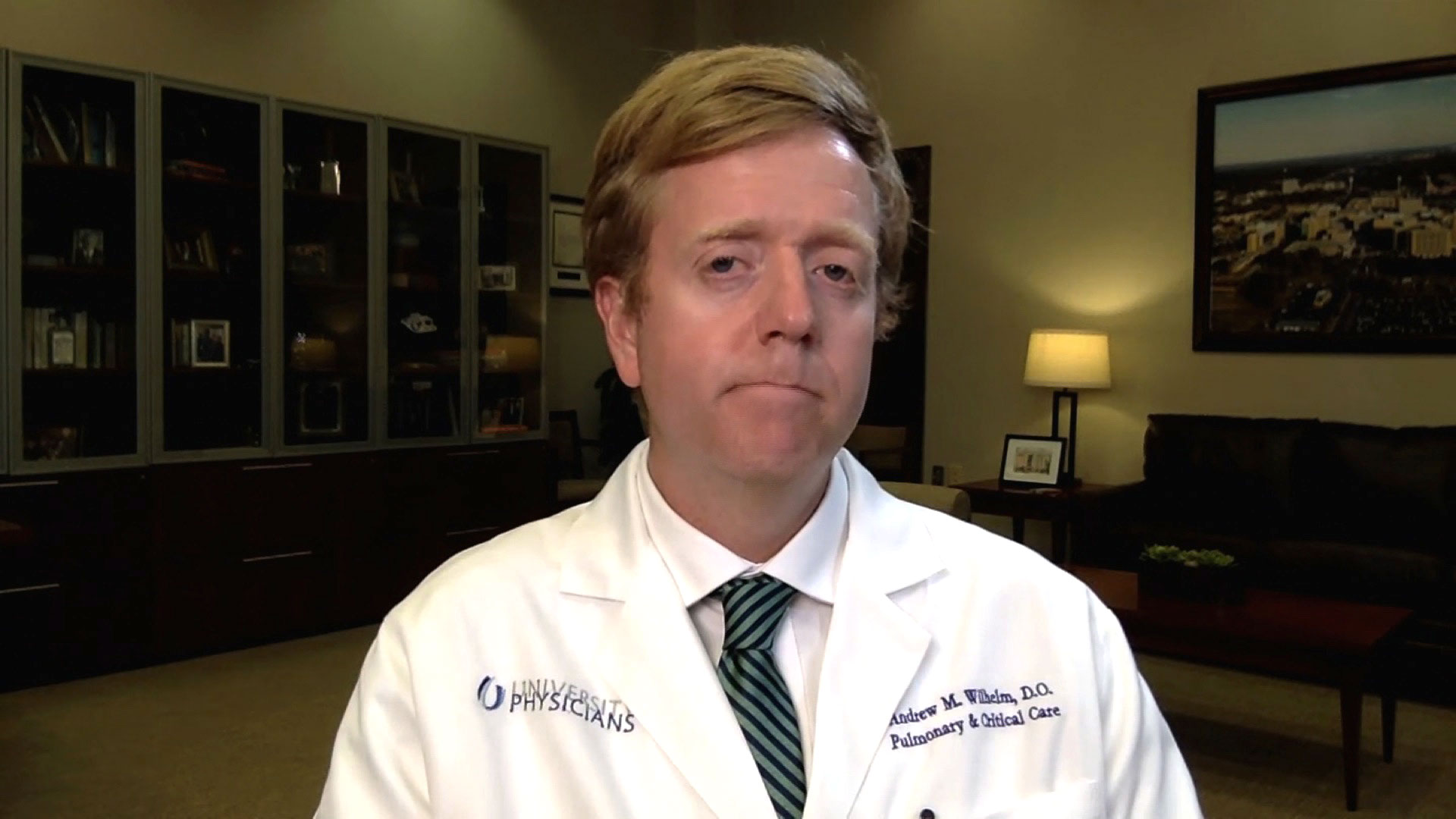 Dr. Andrew Wilhelm, director of the University of Mississippi Medical Center's Intensive Care Unit, speaks with CNN on August 6.