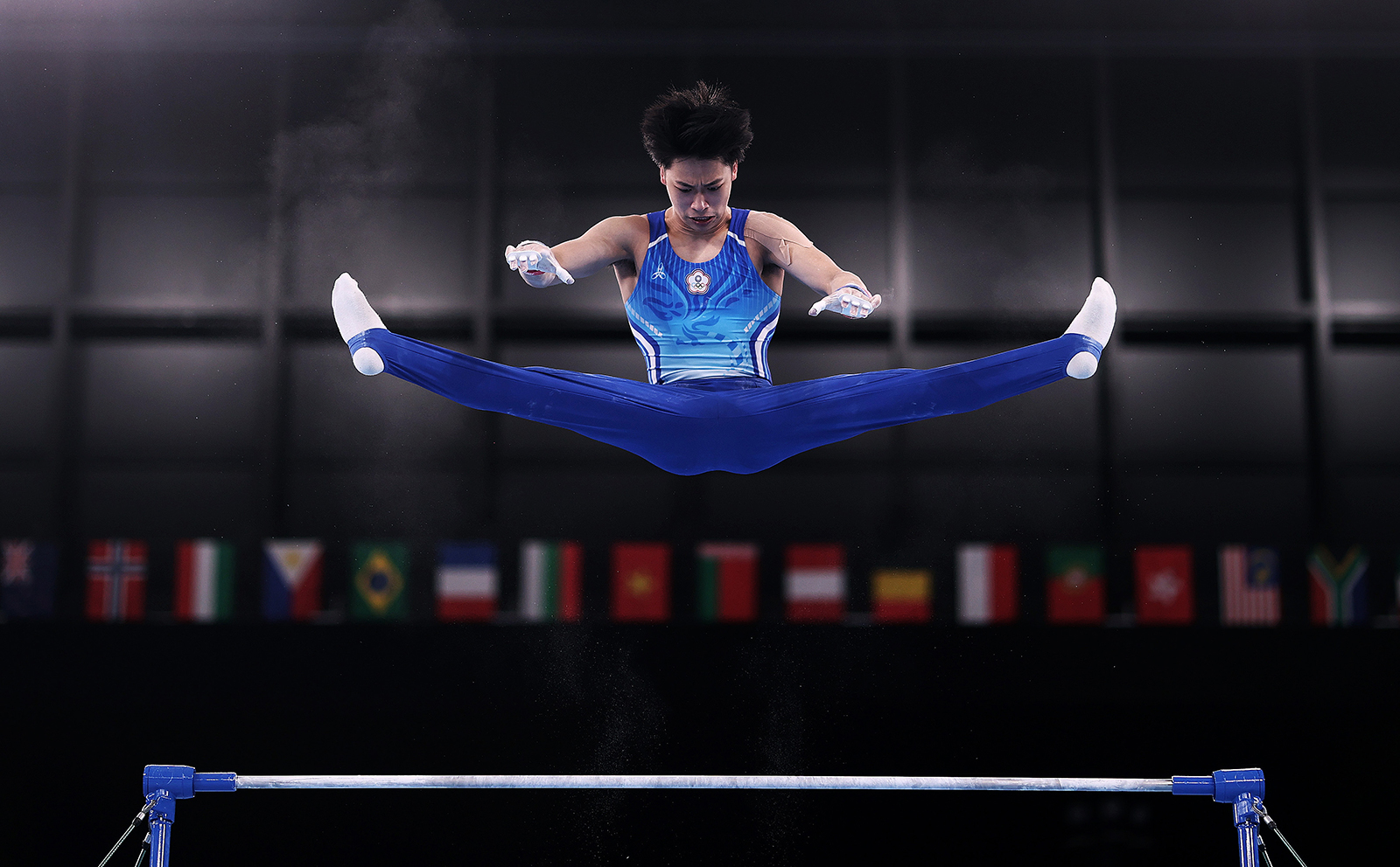 Taiwanesegymnast Shiao Yu-jan prepares to represent the Chinese Taipei team during a practice session at the Ariake Gymnastics Centre ahead of the Olympic Games on July 21, in Tokyo.