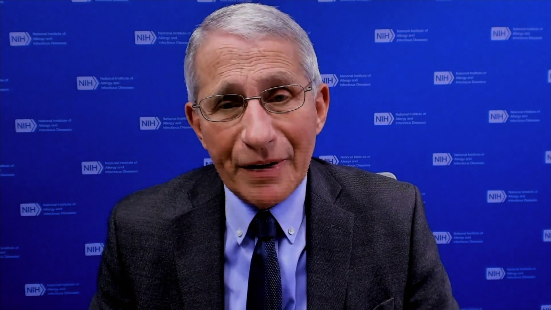 Dr. Anthony Fauci speaks during an interview on January 19.