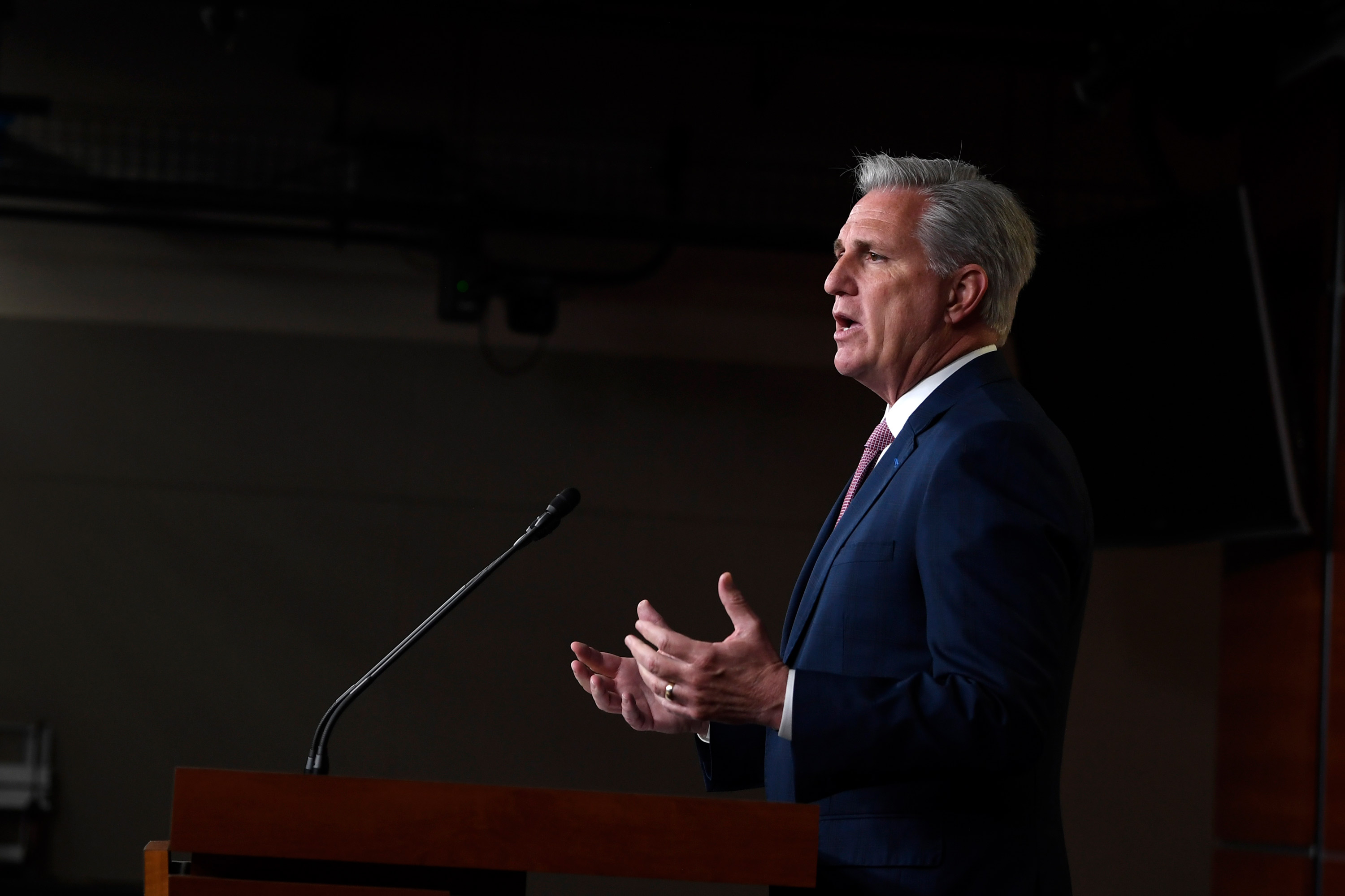 House Minority Leader Kevin McCarthy of Calif., speaks during a news conference on Capitol Hill in Washington on June 11.