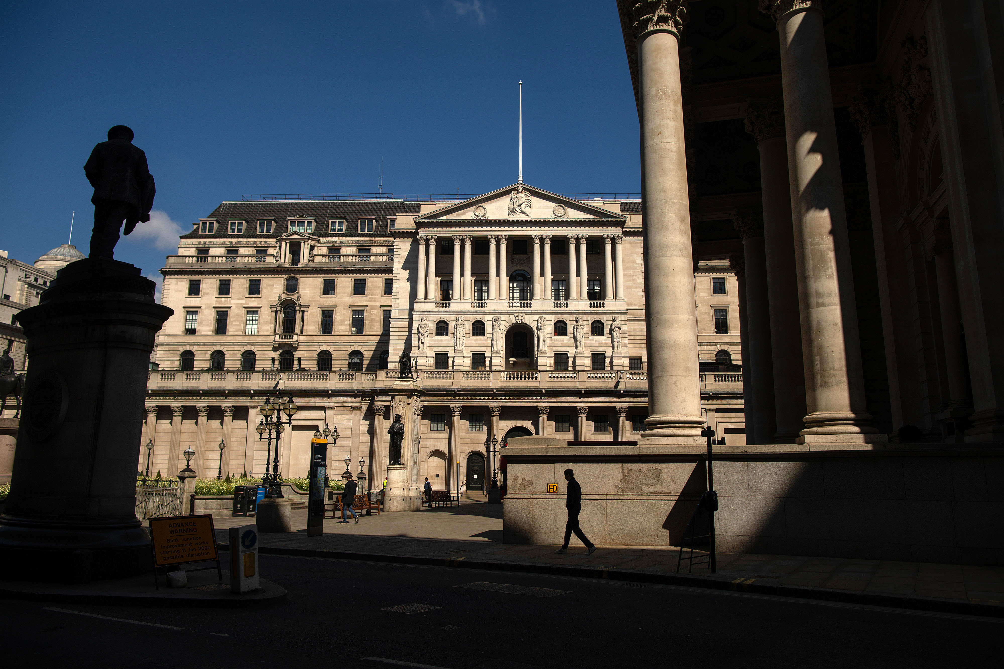 The Bank of England in London is pictured on May 6.