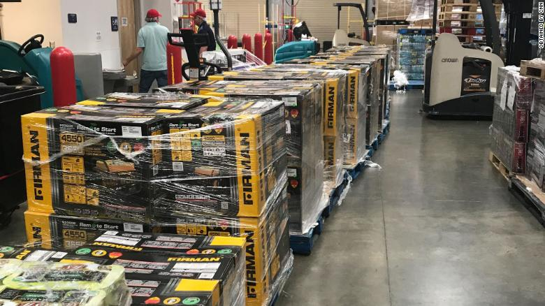 All 100 of these generators were purchased in Florida and are being shipped to the Bahamas.