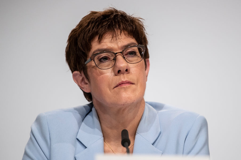 German Defence Minister Annegret Kramp-Karrenbauer is also head of the Christian Democratic (CDU) party.