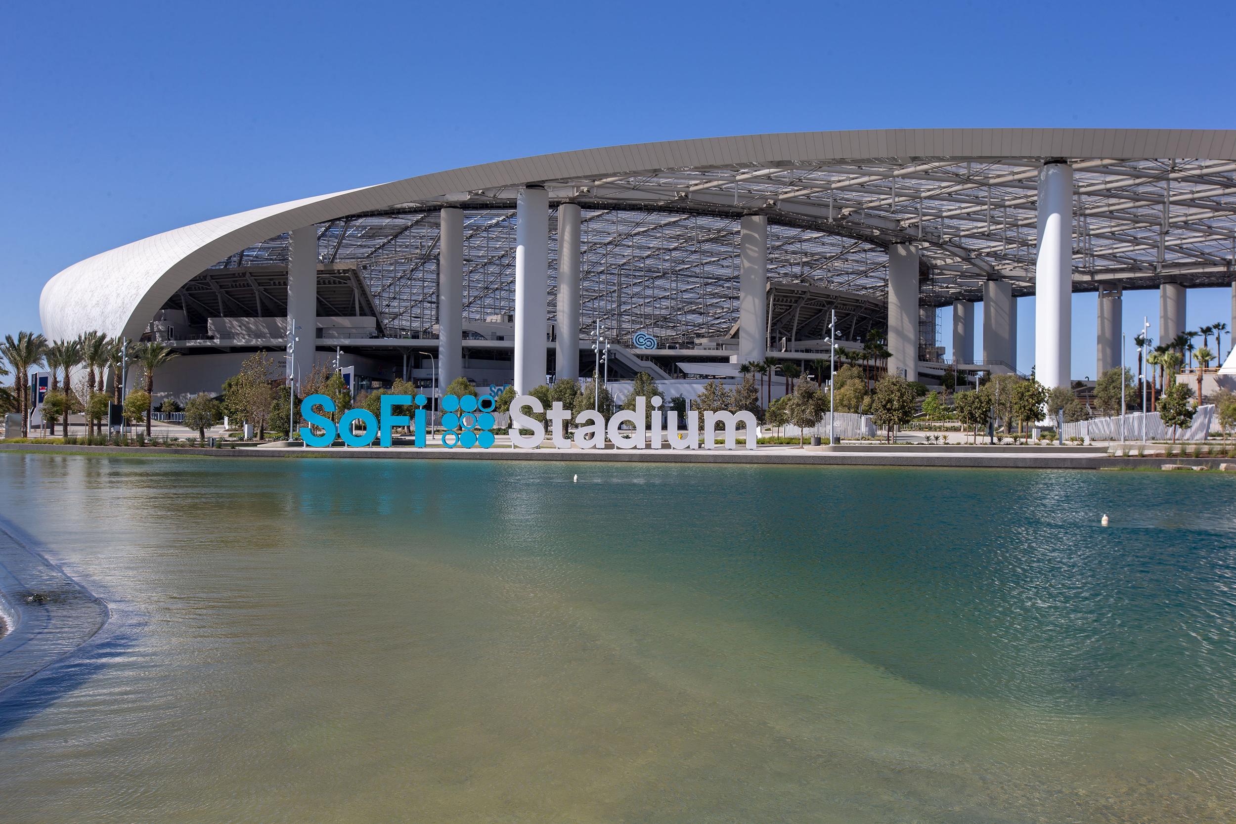 SoFi Stadium in Inglewood, California.