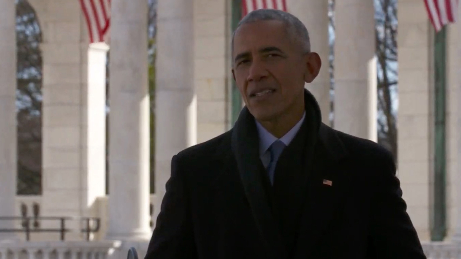 In this screengrab, Former president Barack Obama speaks during the Celebrating America Primetime Special on January 20.