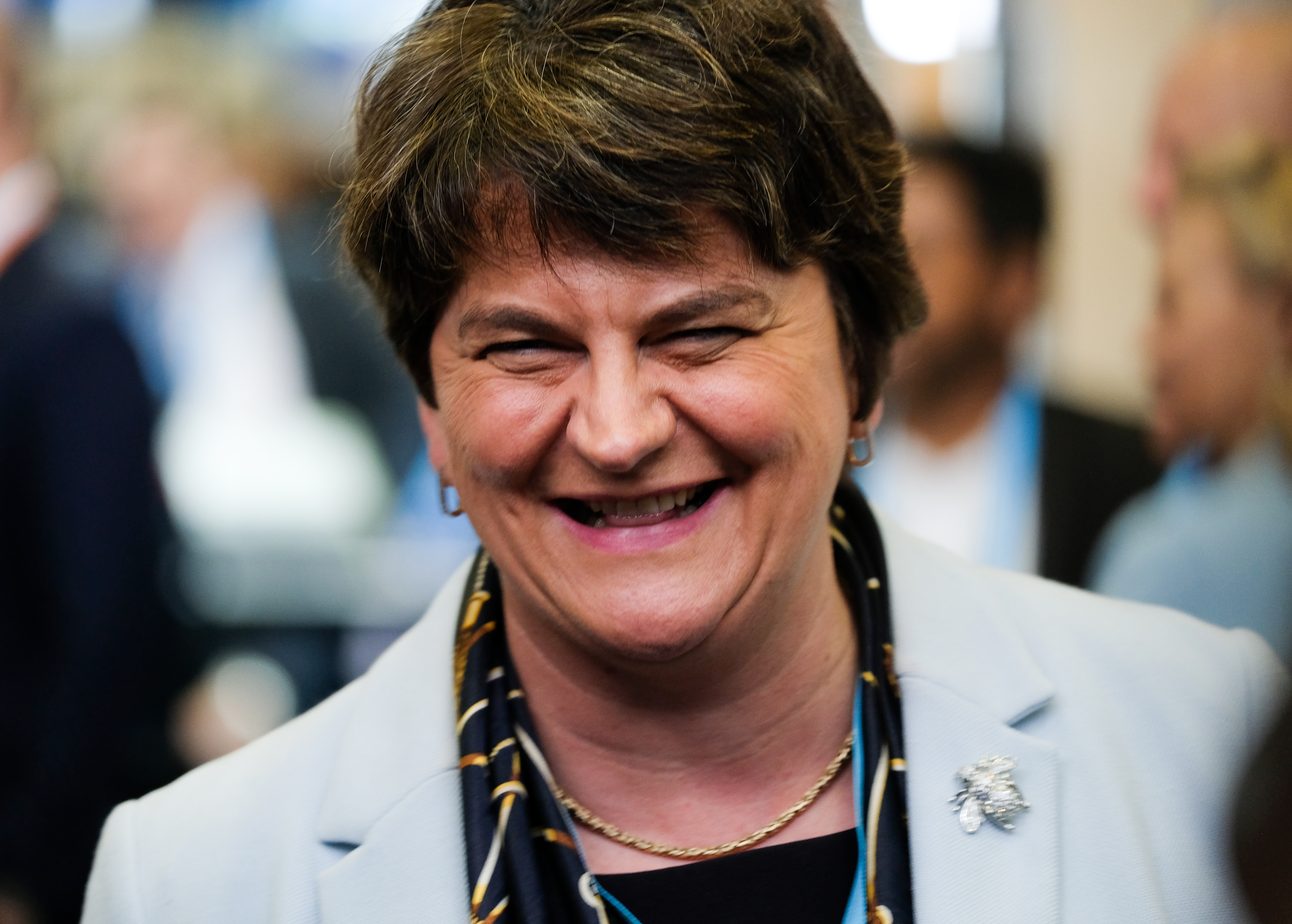 Arlene Foster, the leader of the Democratic Unionist Party, at the Conservative Party Conference.