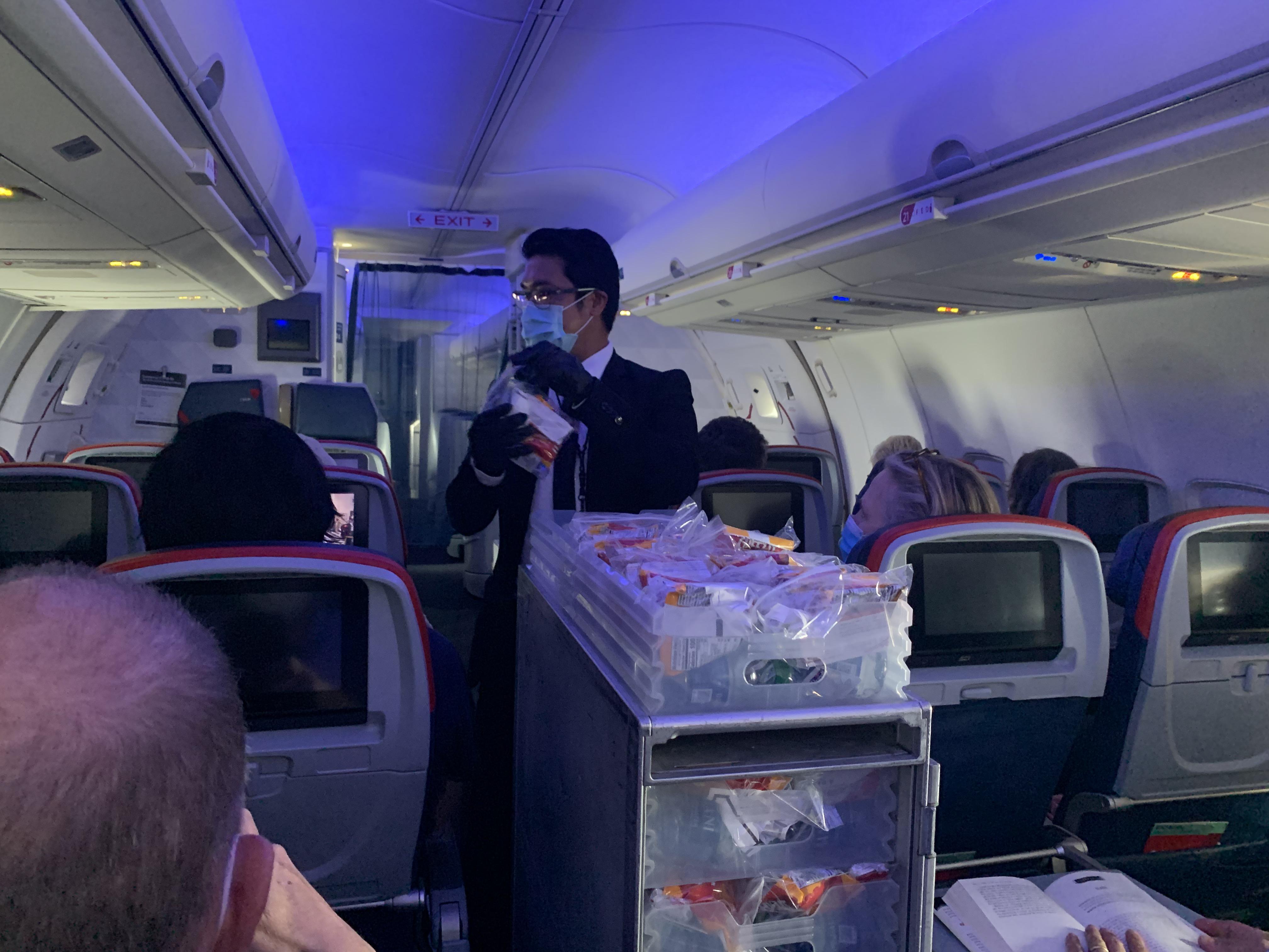 A photo CNN Travel's Brekke Fletcher took during a Delta flight from New York JFK to San Francisco International on June 27.