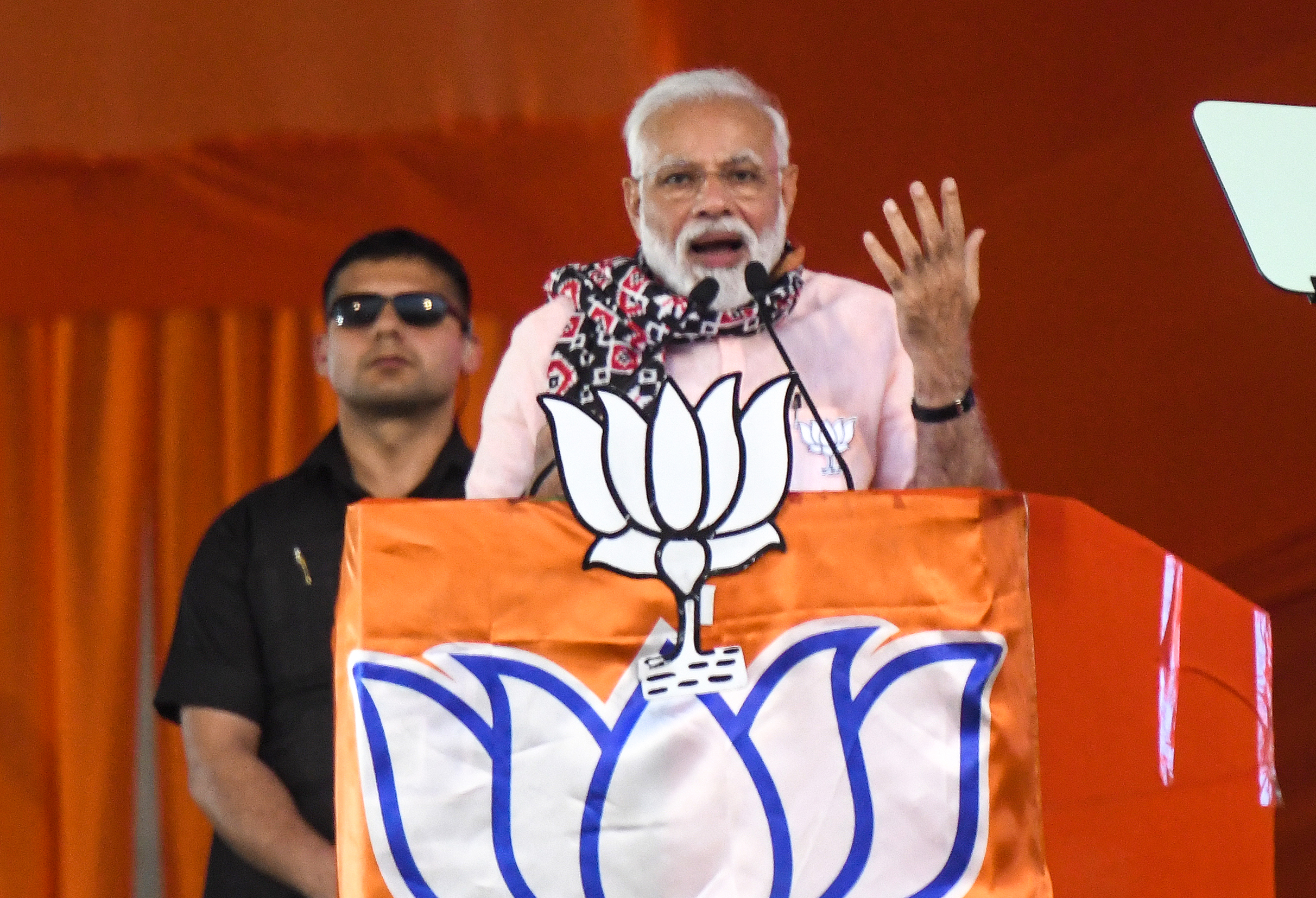 Narendra Modi campaigning in Hyderabad on April 1, 2019.