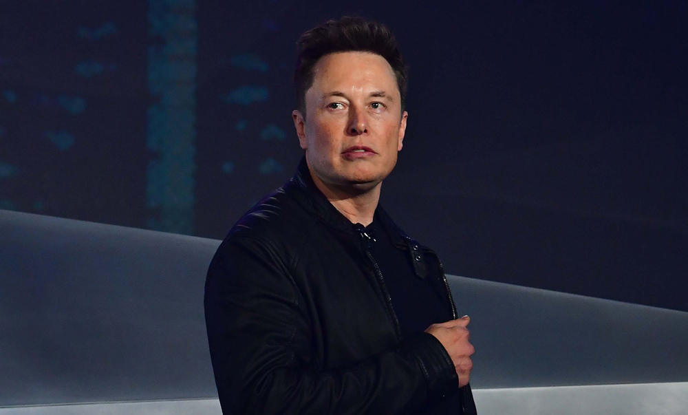 Tesla co-founder and CEO Elon Musk introduces the newly unveiled all-electric battery-powered Tesla Cybertruck at Tesla Design Center in Hawthorne, California on November 21, 2019.