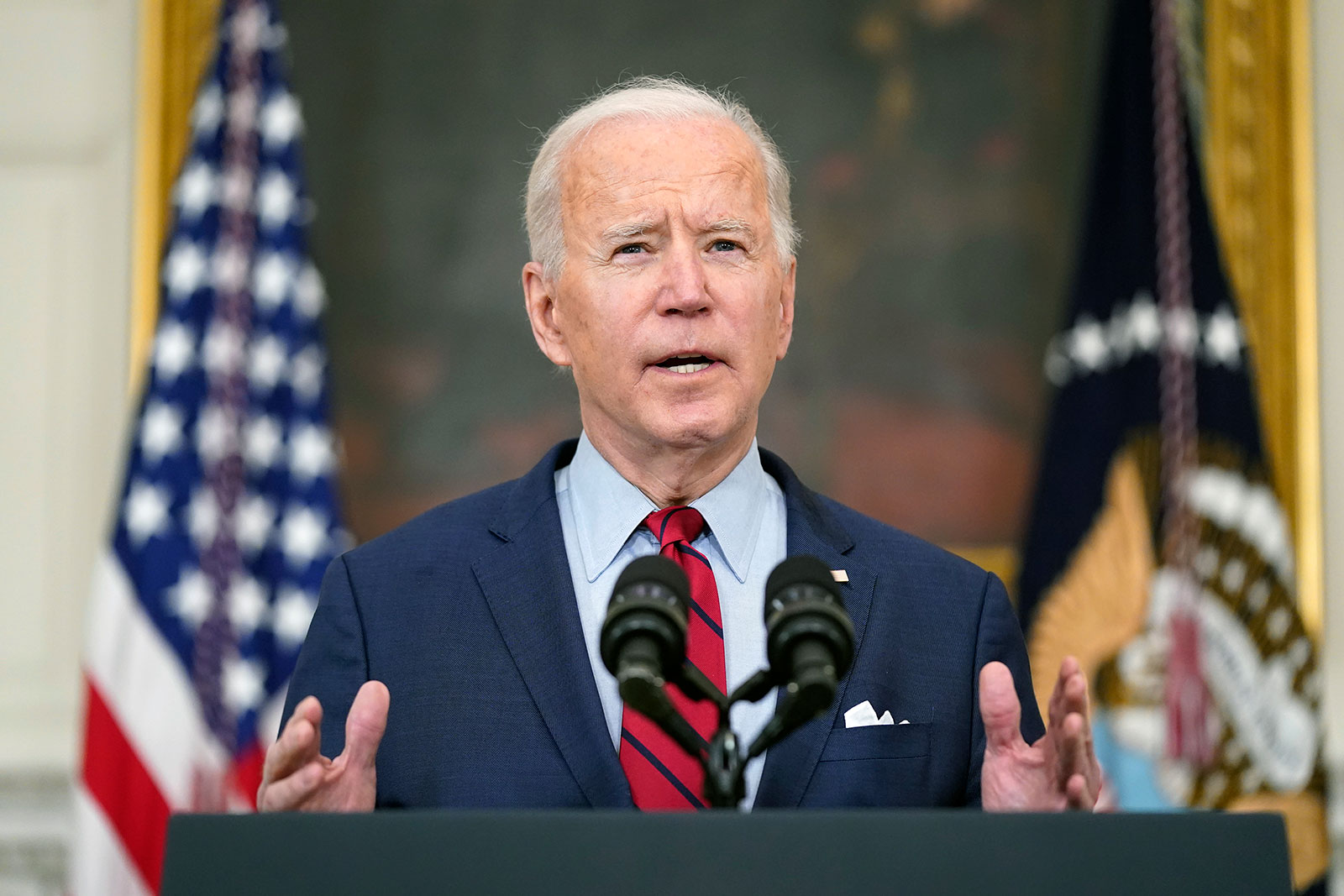 President Biden delivers remarks on the Boulder, Colorado, shooting on Tuesday.