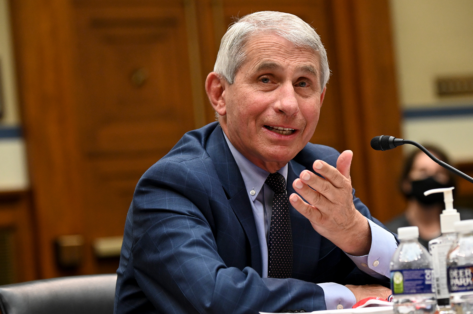 Anthony Fauci, director of the National Institute of Allergy and Infectious Diseases, testifies during a House Select Subcommittee on the Coronavirus Crisis hearing on July 31 in Washington.