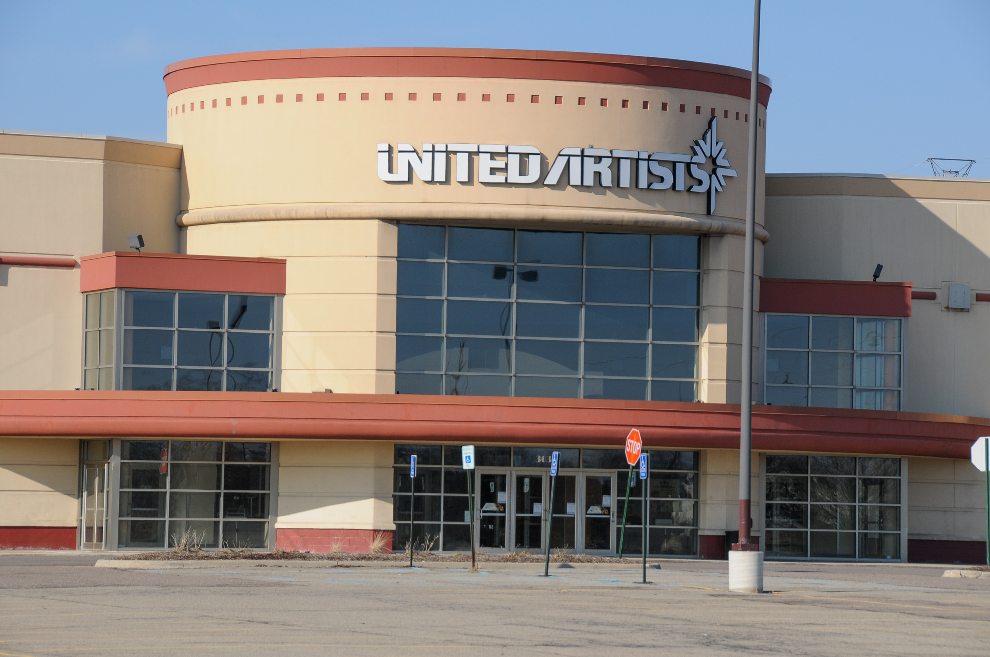 A closed United Artists Regal theater is shown on March 26,  in Commerce Township, Michigan.