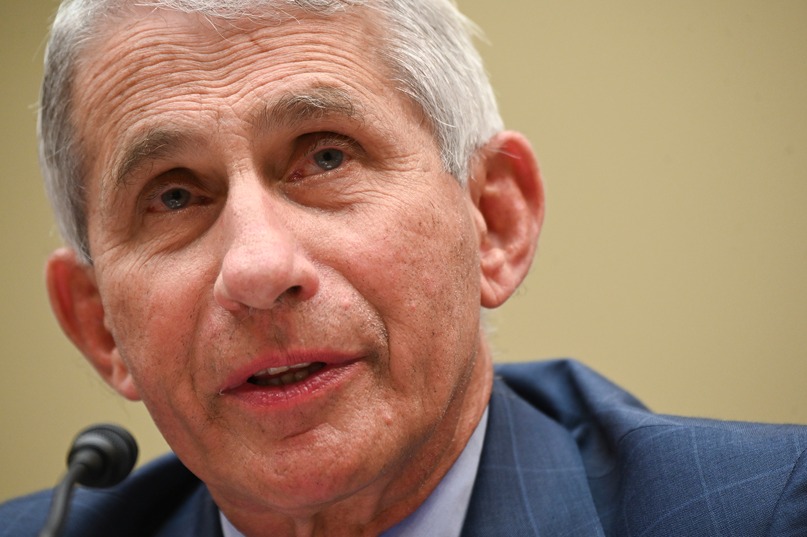 Dr. Anthony Fauci, director of the National Institute of Allergy and Infectious Diseases, testifies during a House Select Subcommittee on the Coronavirus Crisis hearing in Washington, DC on July 31.