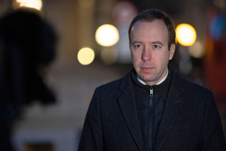 UK Health Secretary Matt Hancock speaks to the media in London on November 23.