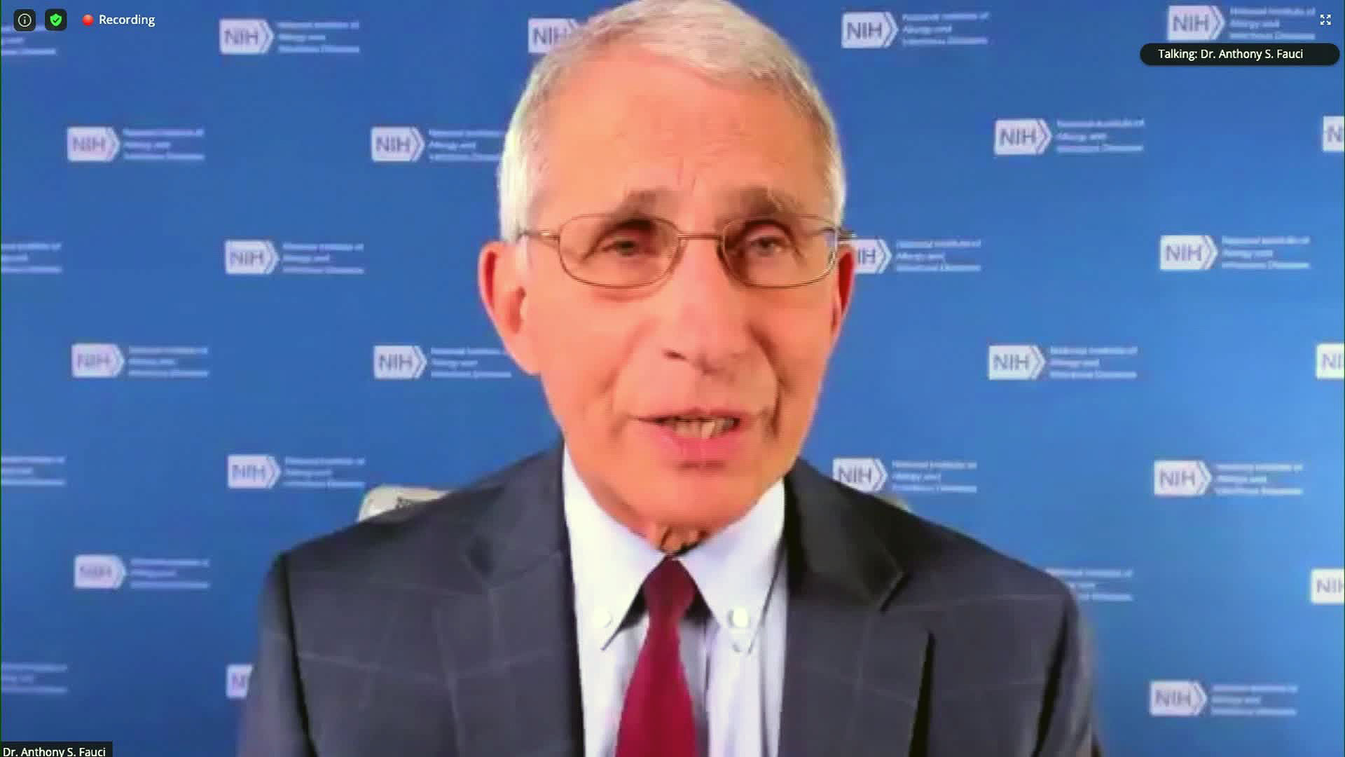 Dr. Anthony Fauci speaks Tuesday during an event organized by Research! America.