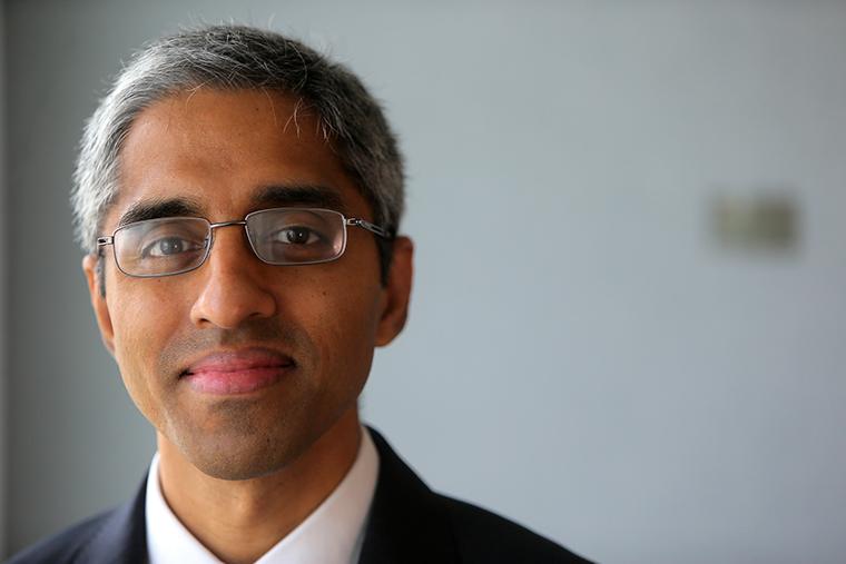 Dr. Vivek Murthy posing for a portrait in 2018.