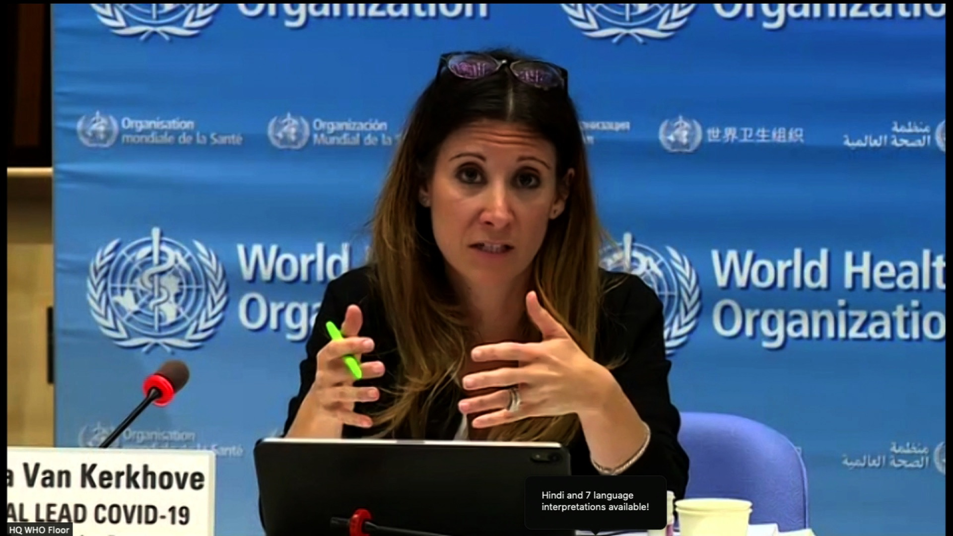 The World Health Organization's technical lead for Covid-19, Maria van Kerkhove, speaks during a WHO briefing on December 21.