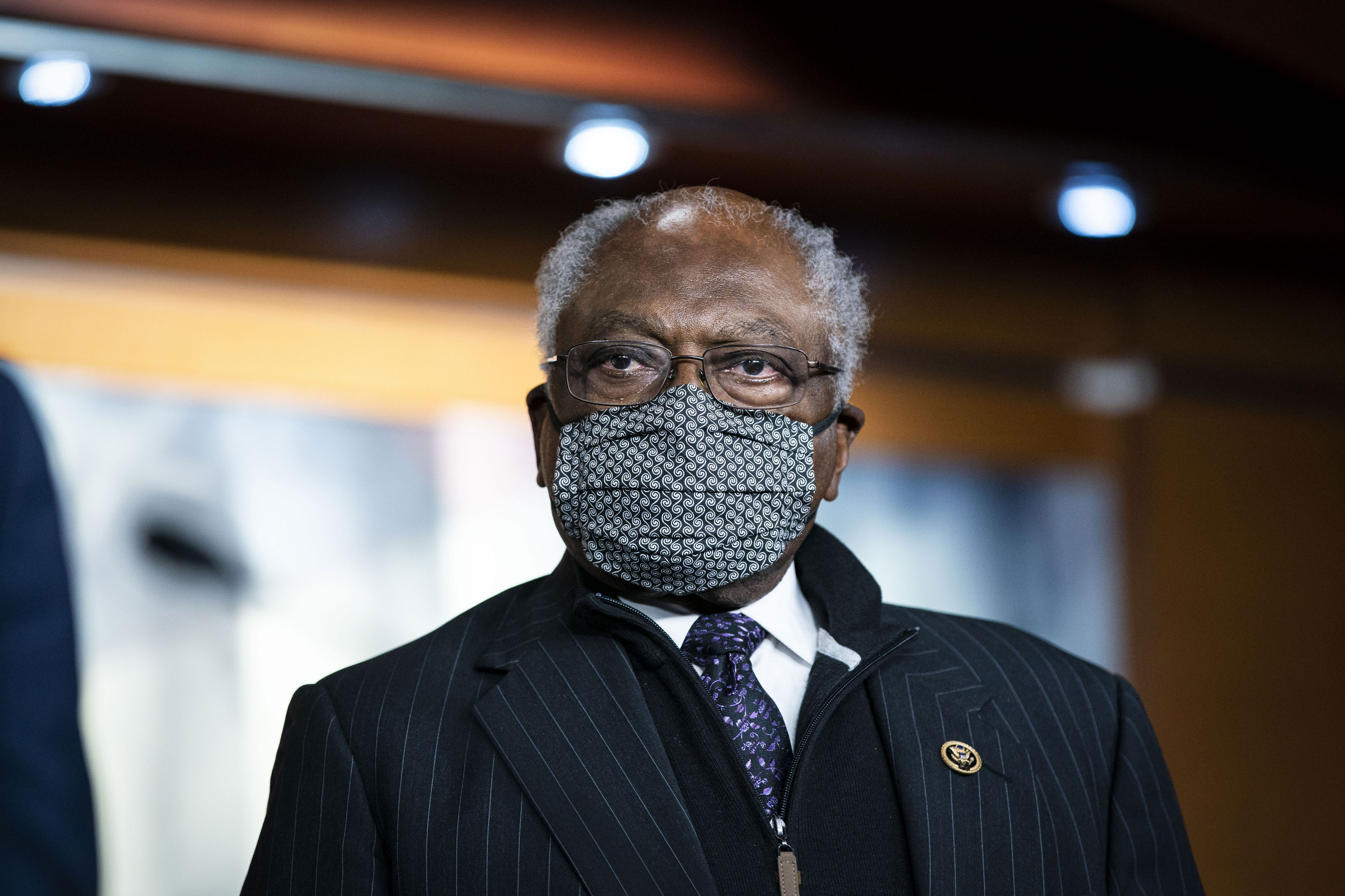 Rep. Jim Clyburn attends a news conference at the Capitol on November 18, 2020.