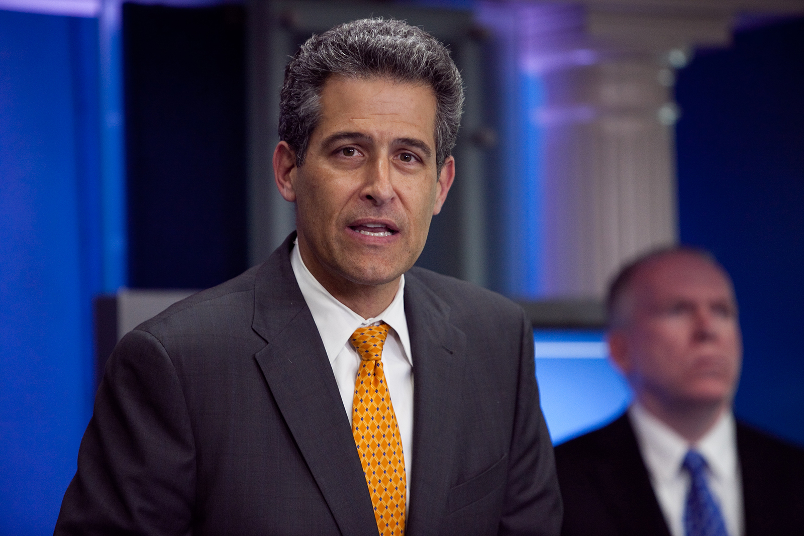 Dr. Richard Besser, then Acting Director, Centers for Disease Control and Prevention, briefs the media at the White House in Washington, DC, on April 26, 2009.