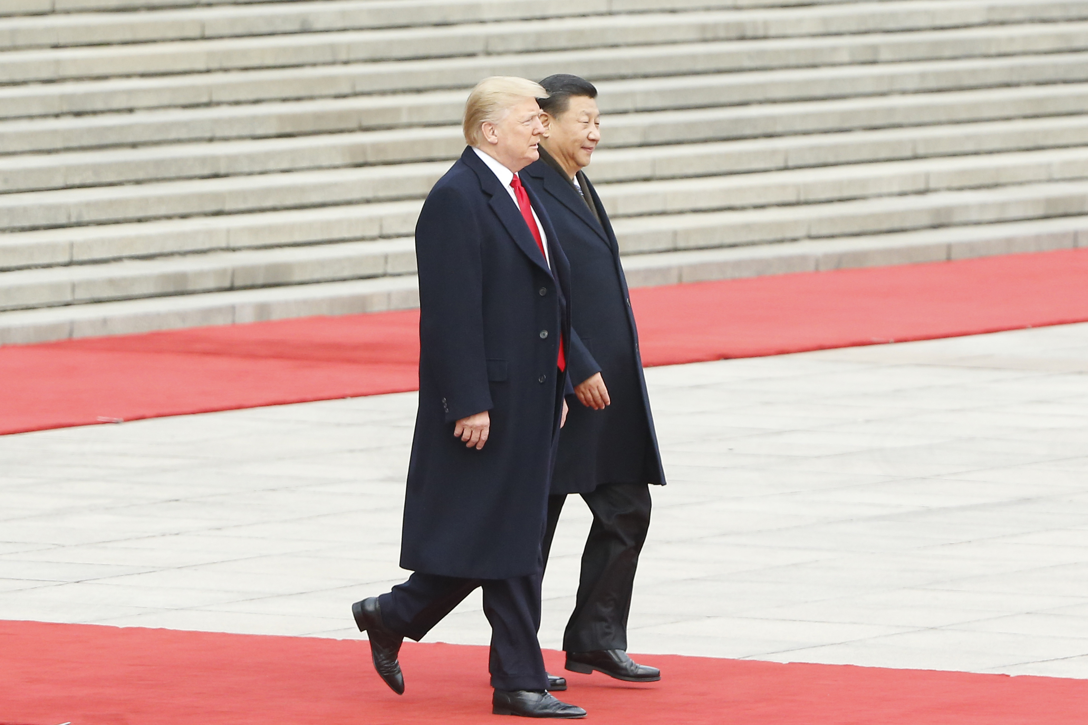 Chinese President Xi Jinping and US President Donald Trump in Beijing on November 9, 2017.