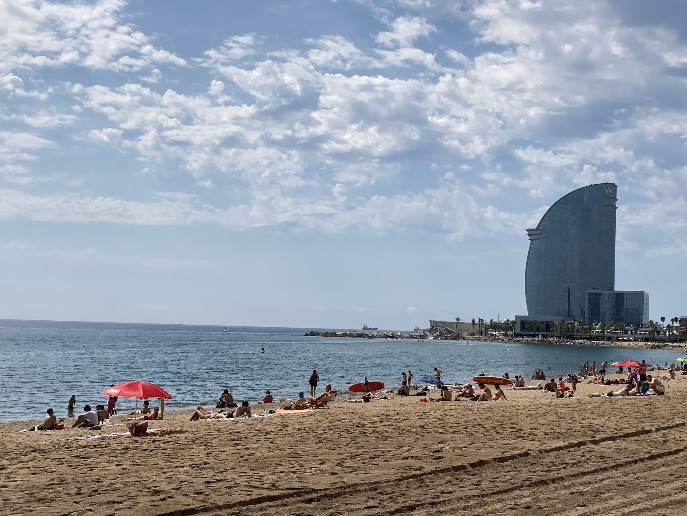 The local government has limited access to Barceloneta beach to prevent overcrowding and ensure safe distancing.