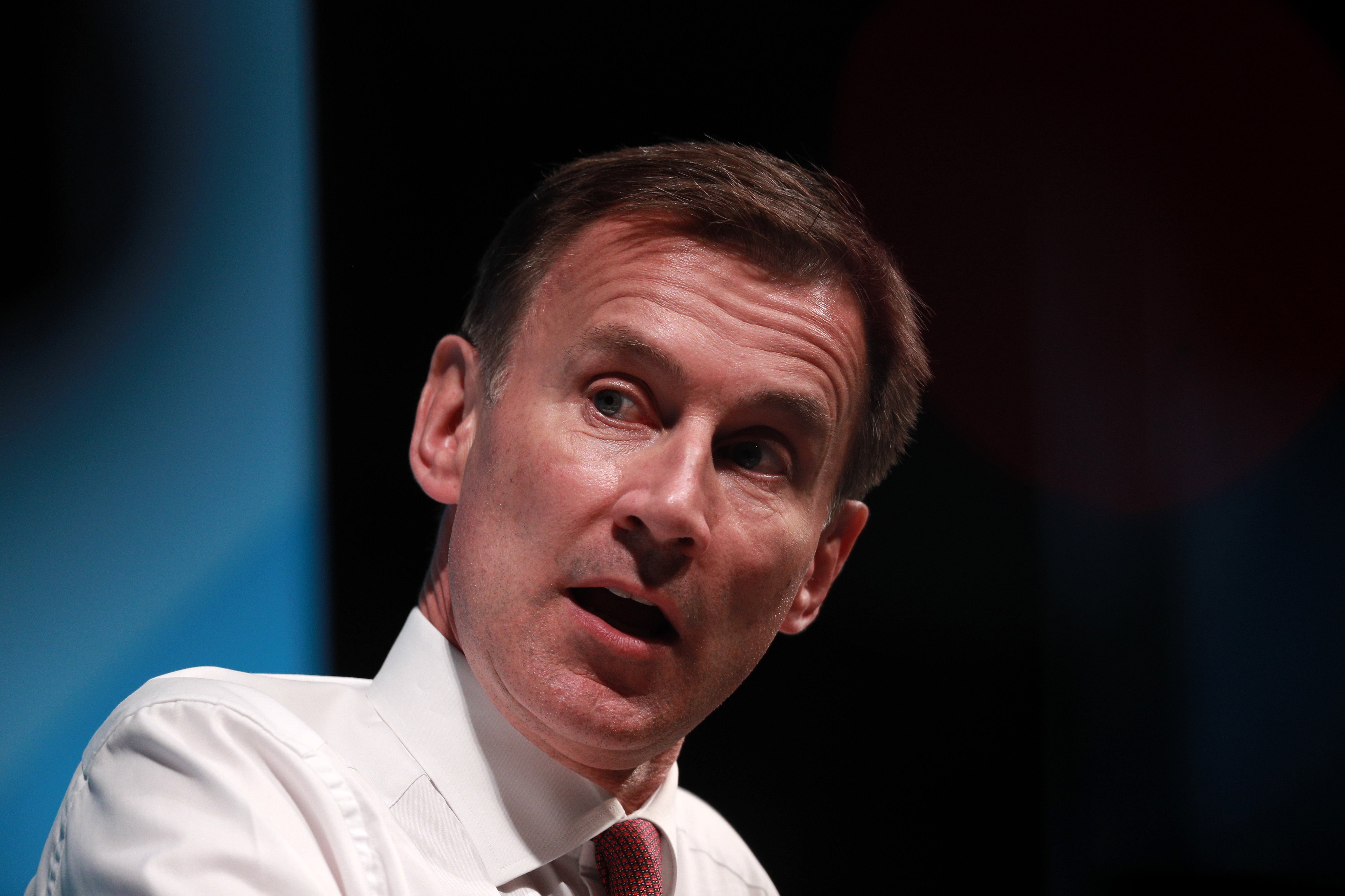 British Foreign Secretary Jeremy Hunt onstage during the Conservative leadership hustings in Cheltenham, England on July 12.