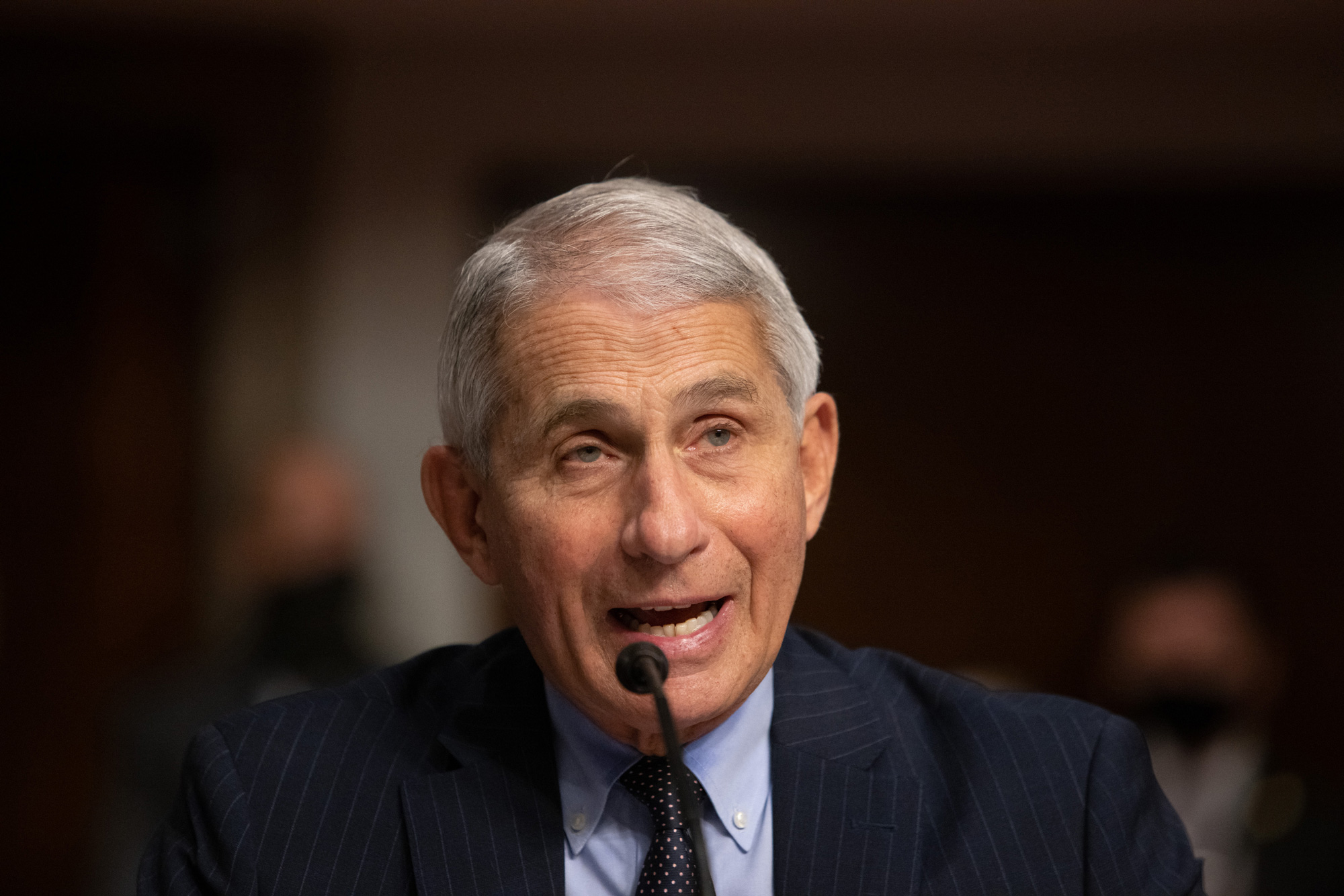 Dr. Anthony Fauci testifies during a US Senate Senate Health, Education, Labor, and Pensions Committee hearing in Washington, DC, on September 23.