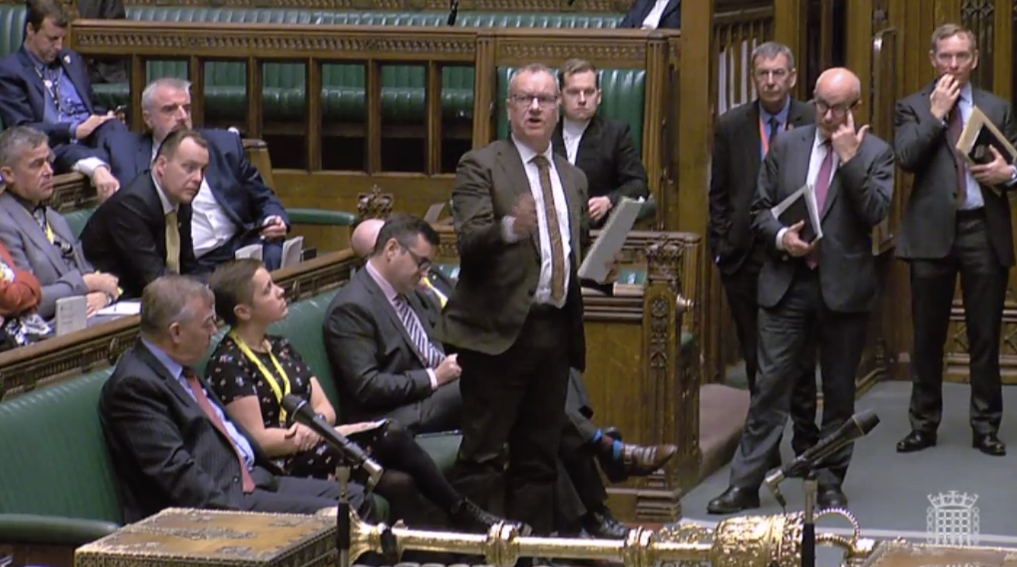 Pete Wishart in the House of Commons.