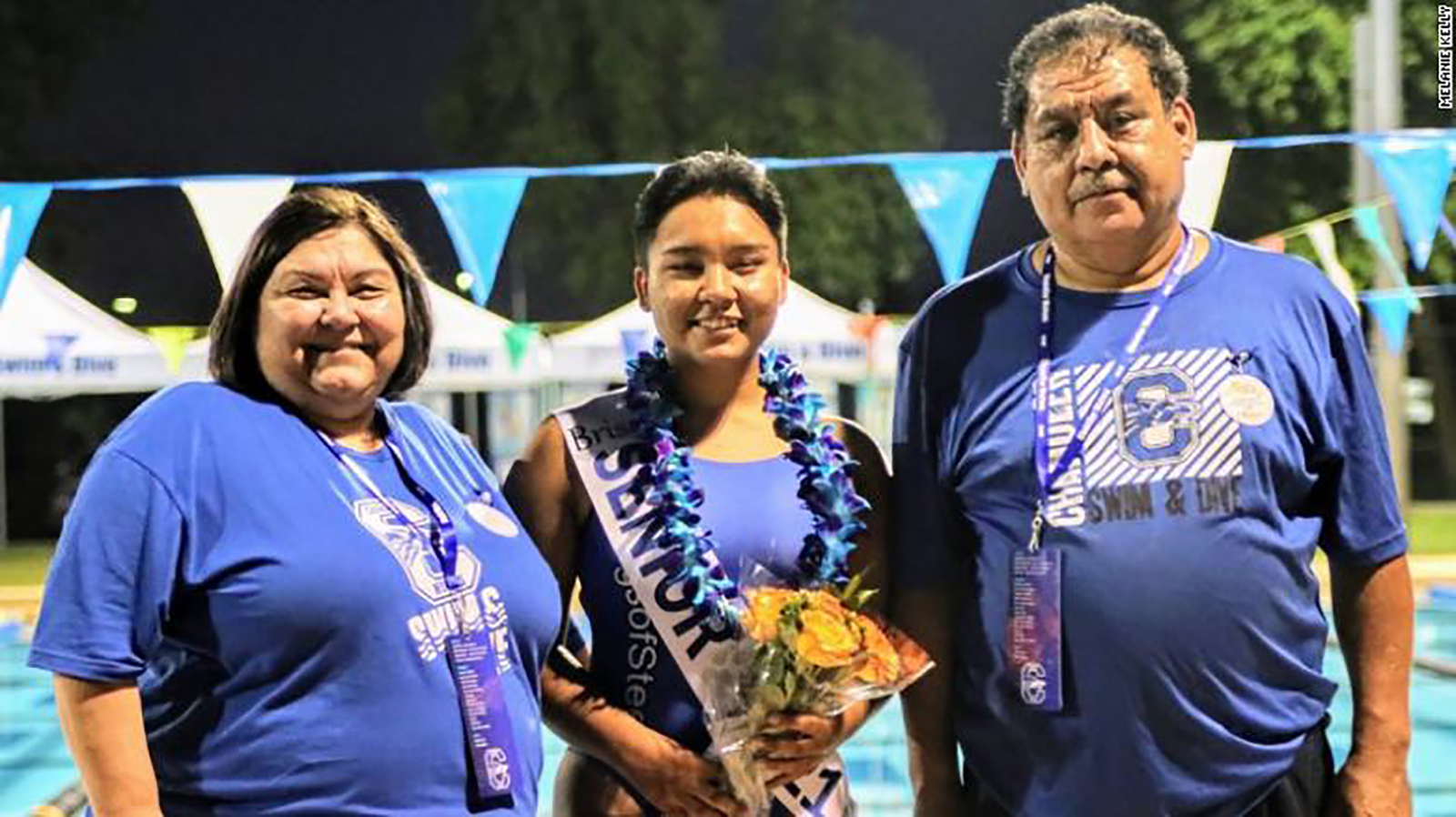 Lisa and Tony Vasquez with their daughter, Brisa, center. Lisa and Tony died last week from Covid-19.