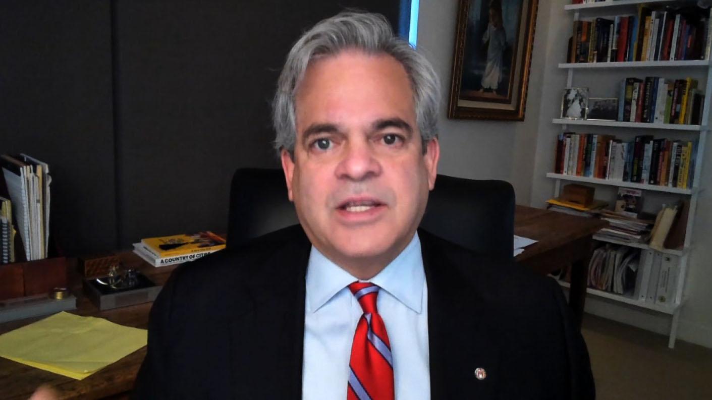 """Austin Mayor Steve Adler on """"CNN Newsroom"""" on July 1."""
