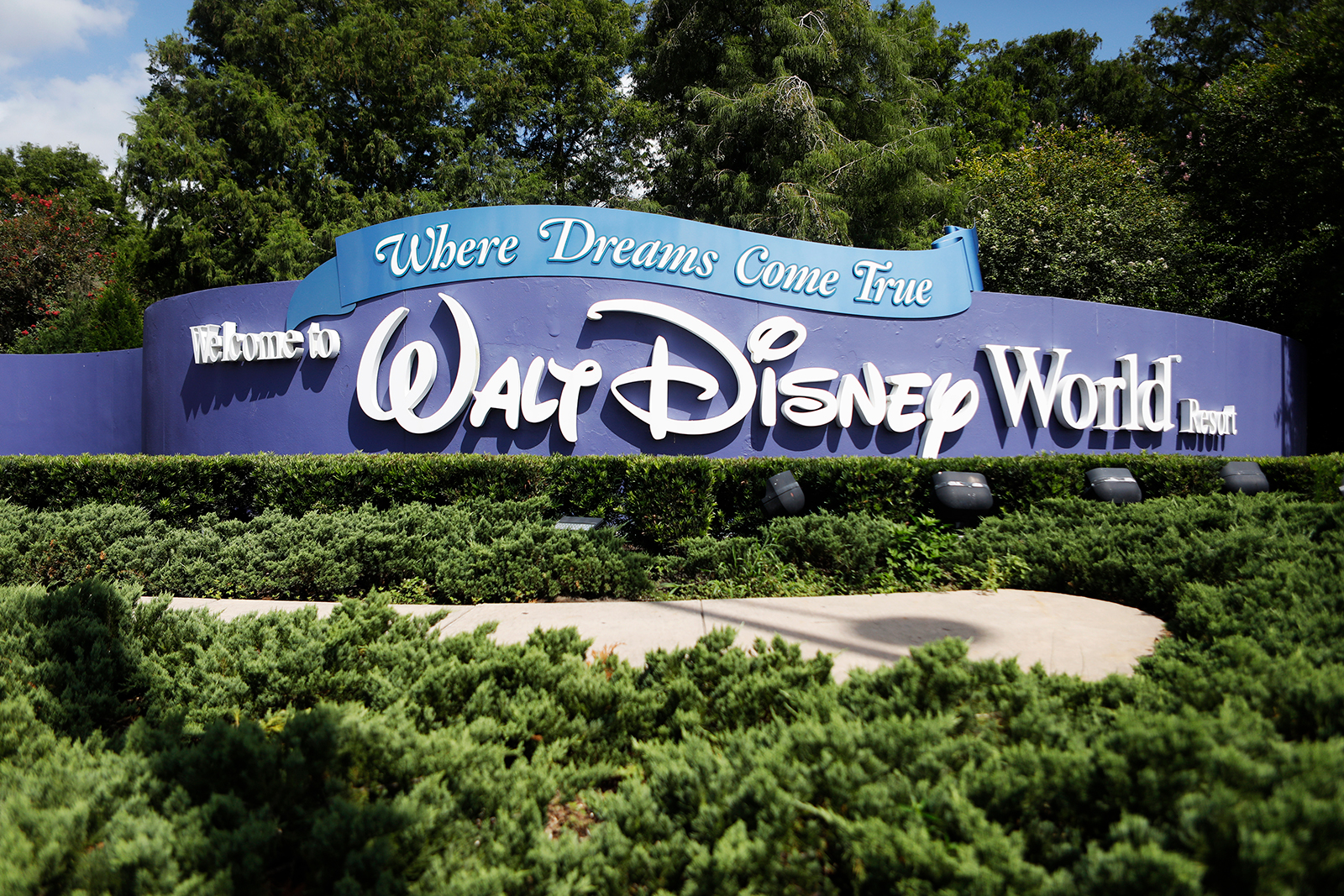 A view of the Walt Disney World theme park entrance in Lake Buena Vista, Florida on July 9.