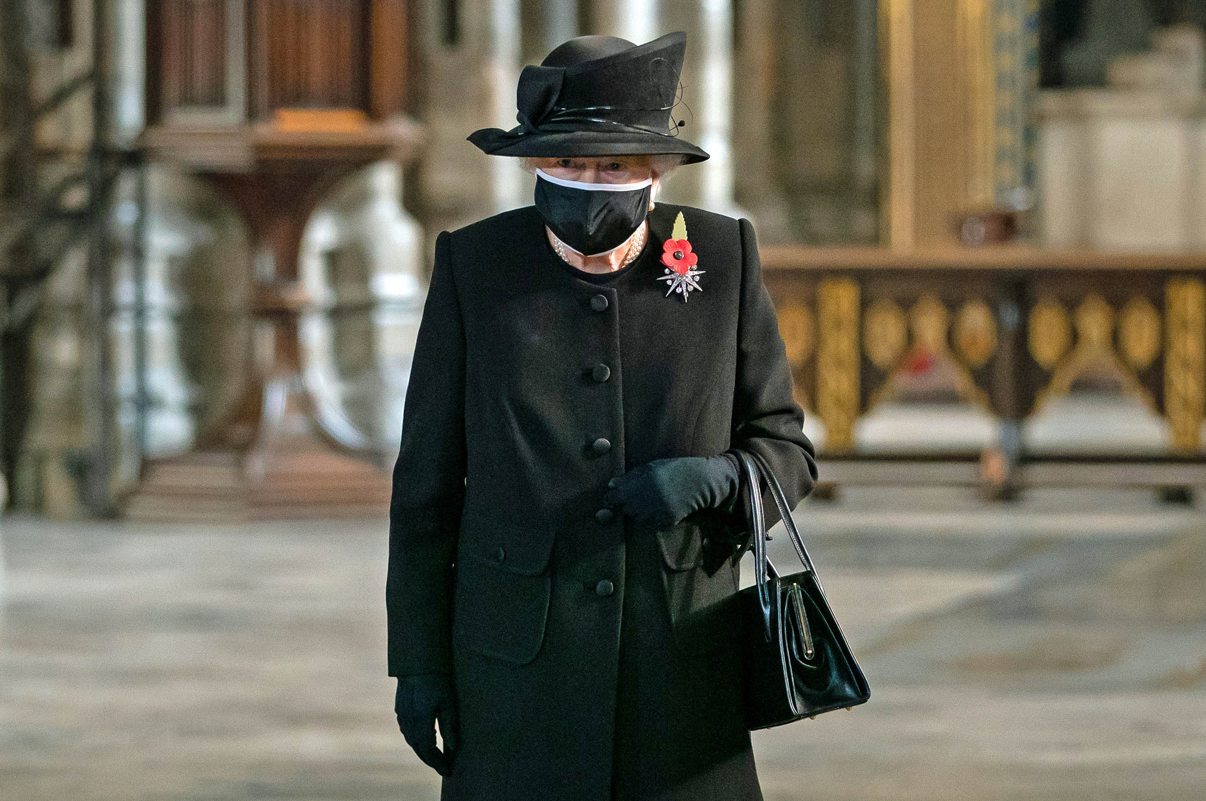 Queen Elizabeth II during a ceremony in Westminster Abbey to mark the centenary of the burial of the Unknown Warrior.