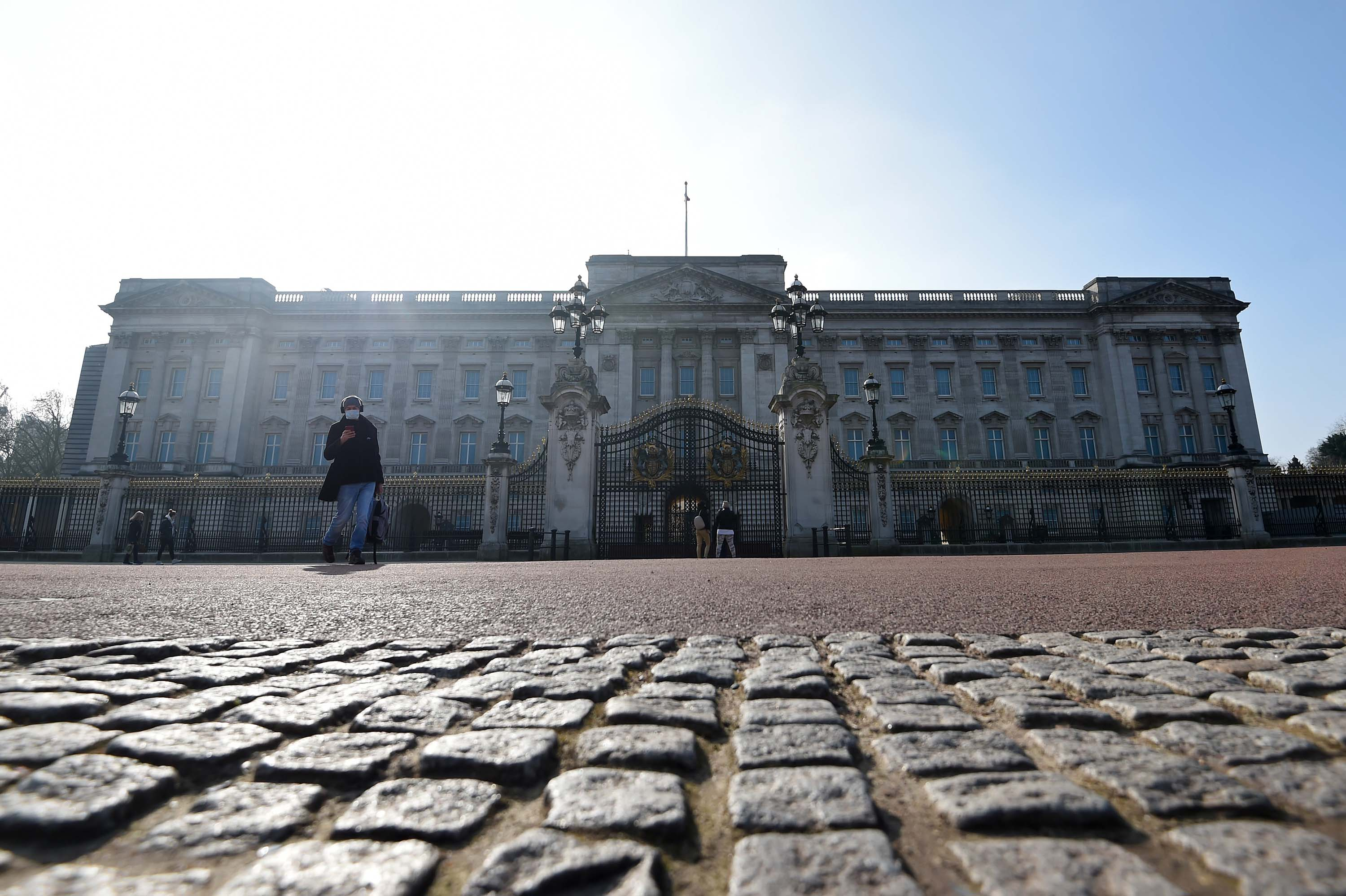 Buckingham Palace is pictured in London on March 1.