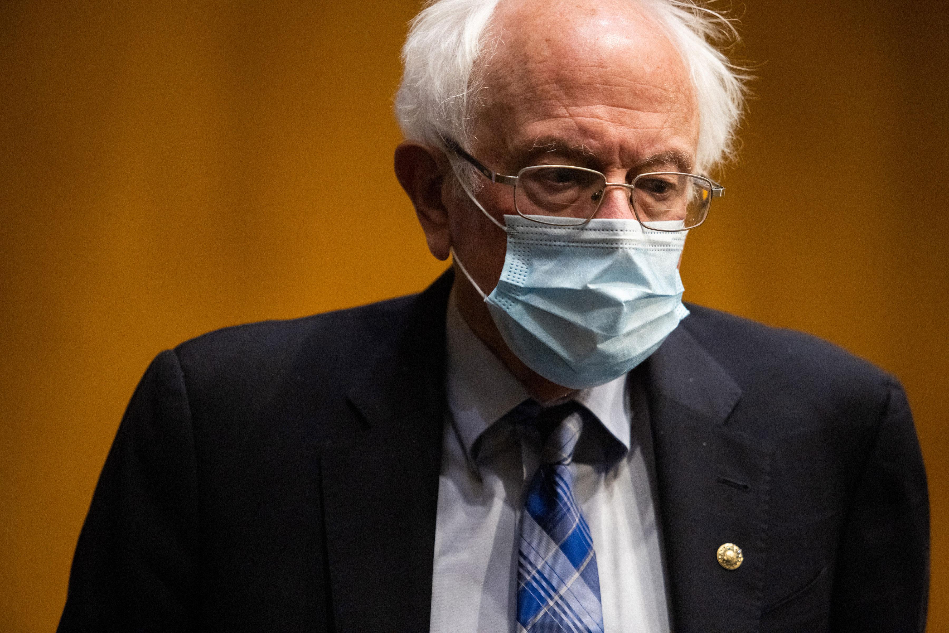 Sen. Bernie Sanders attends a confirmation hearing on January 27 in Washington, DC.