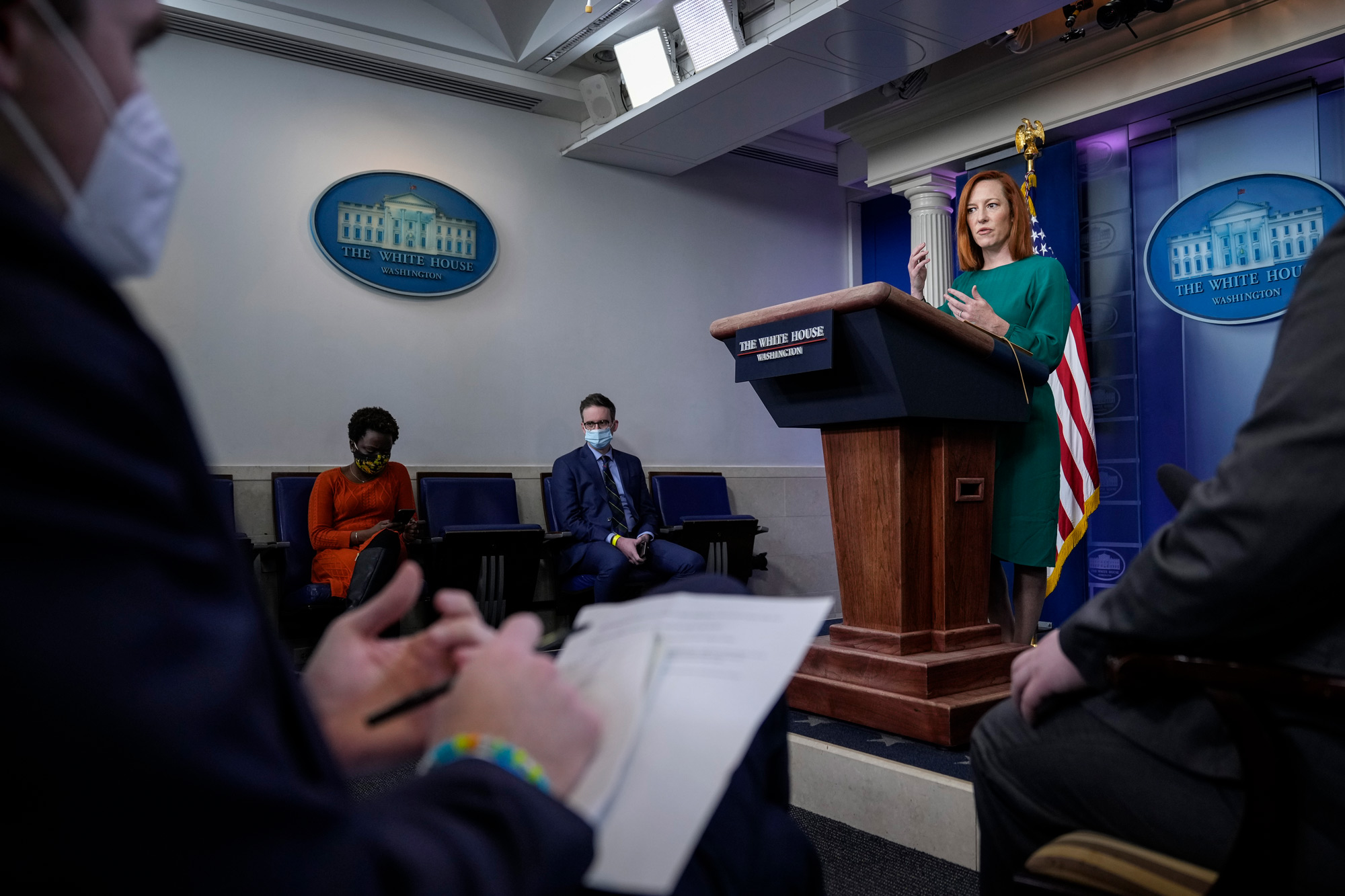 White House Press Secretary Jen Psaki speaks during the daily press briefing at the White House on March 15 in Washington, DC.